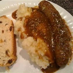 Classic Bangers and Mash thedailygourmet