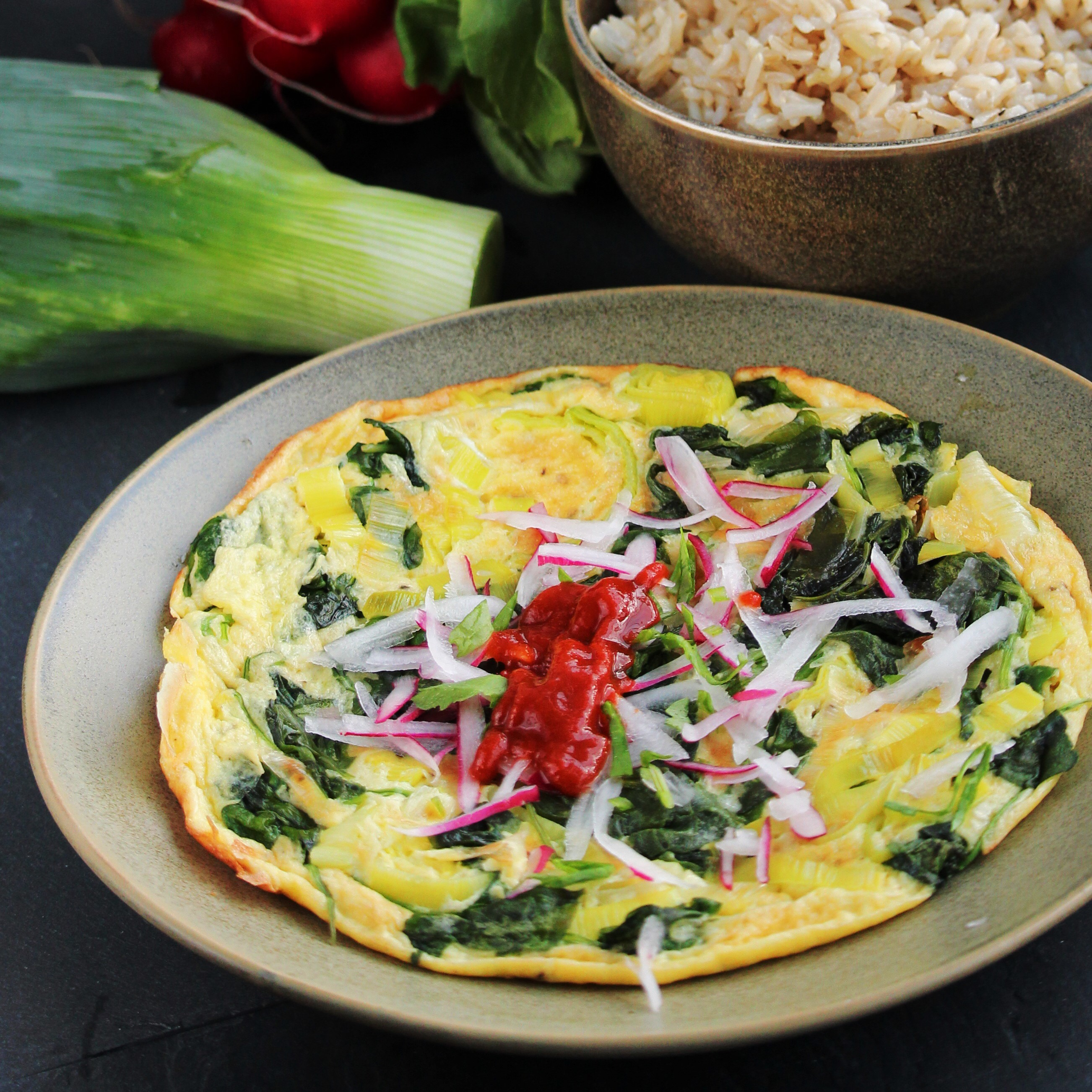 Radish Green Frittata Buckwheat Queen