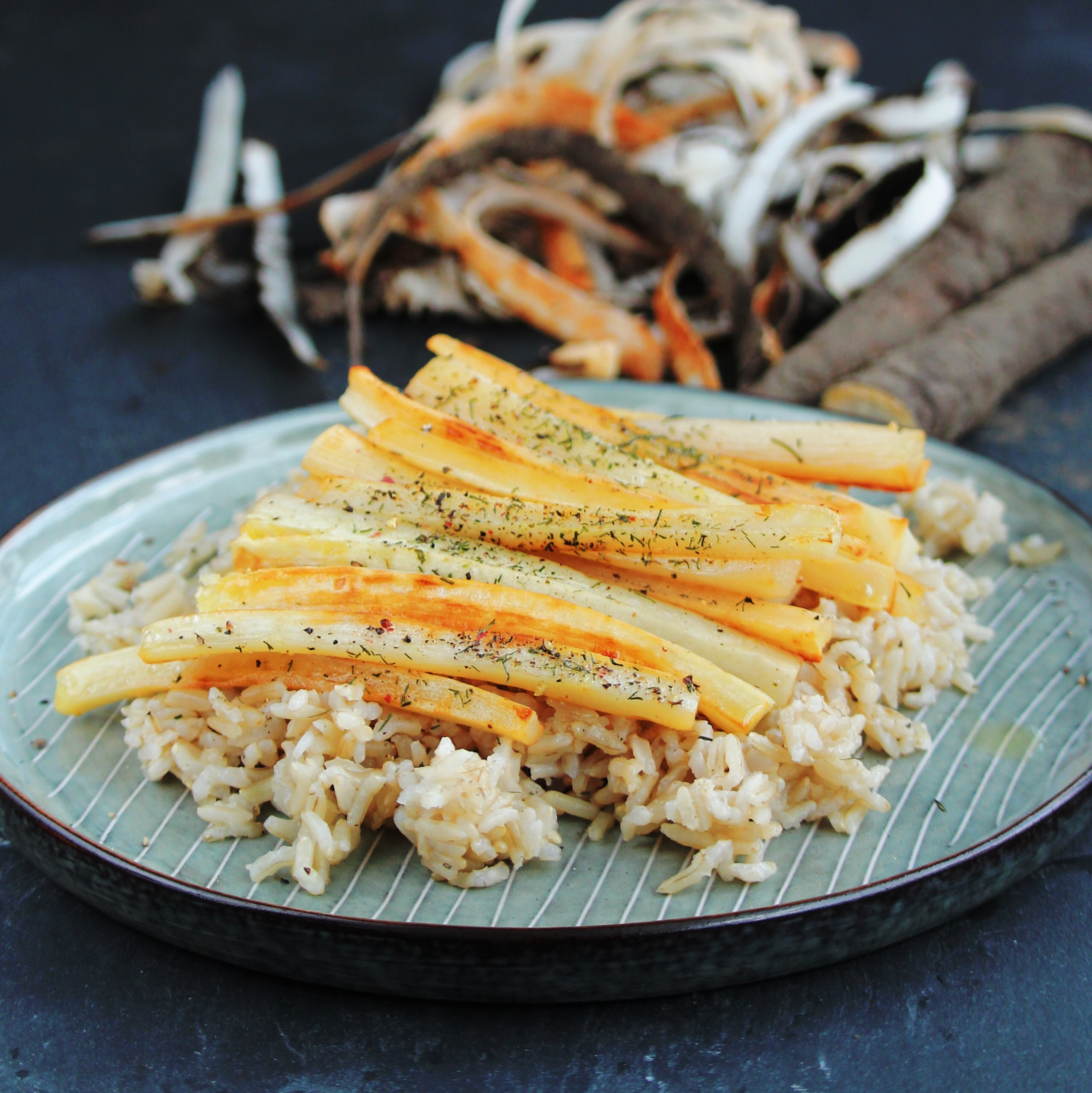Pan-Roasted Salsify