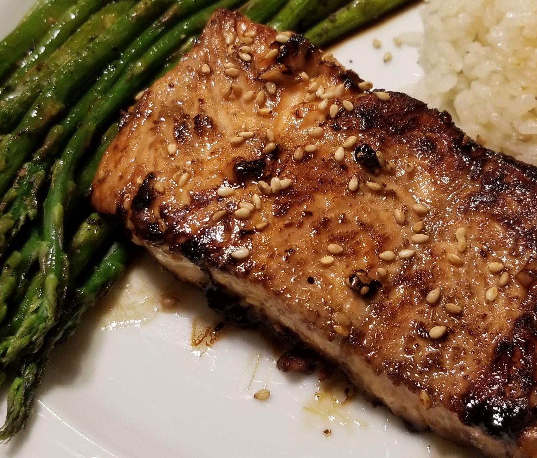 Sesame Grilled Salmon Bocam
