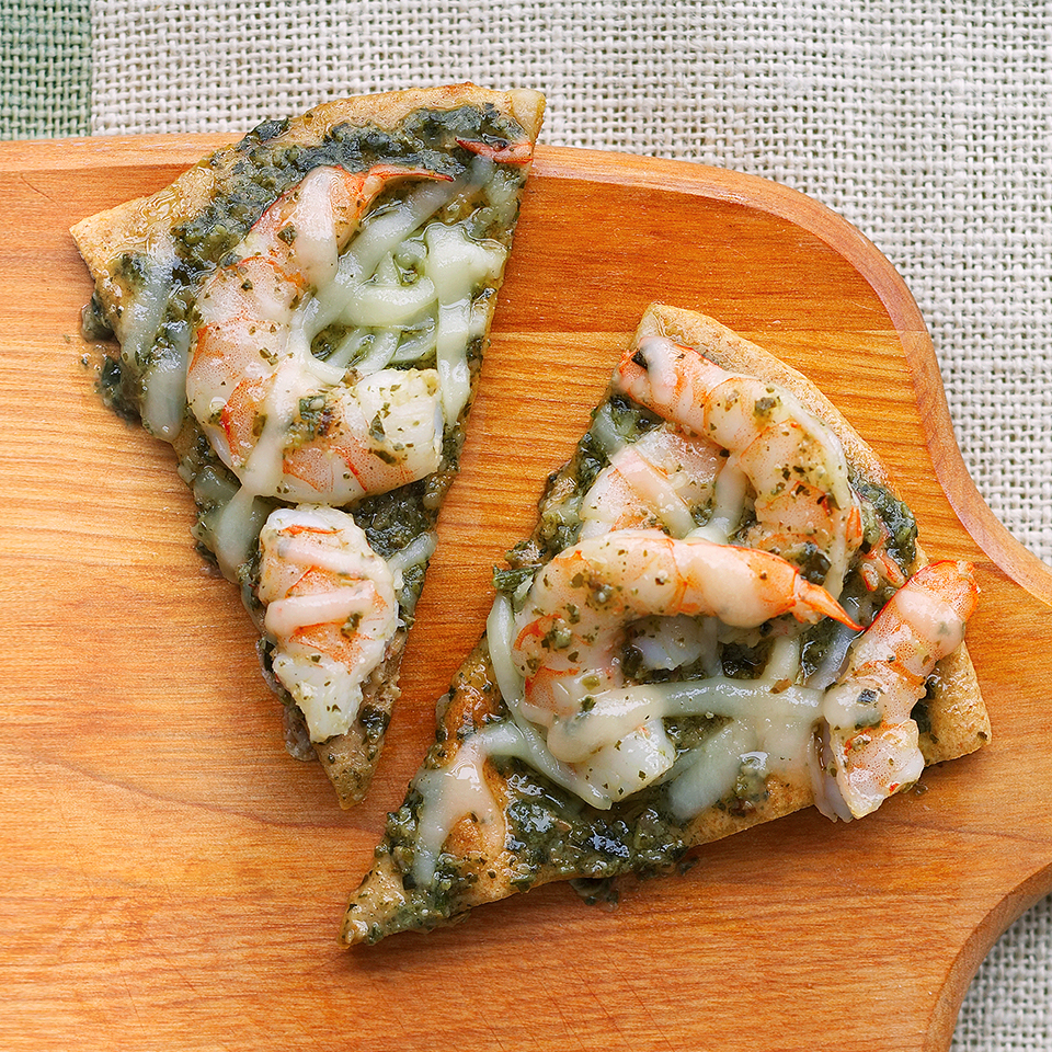Pesto Shrimp Pizza Diabetic Living Magazine