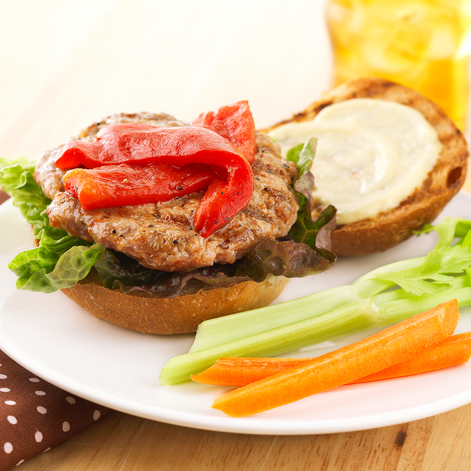 Peppered Pork Burgers Diabetic Living Magazine