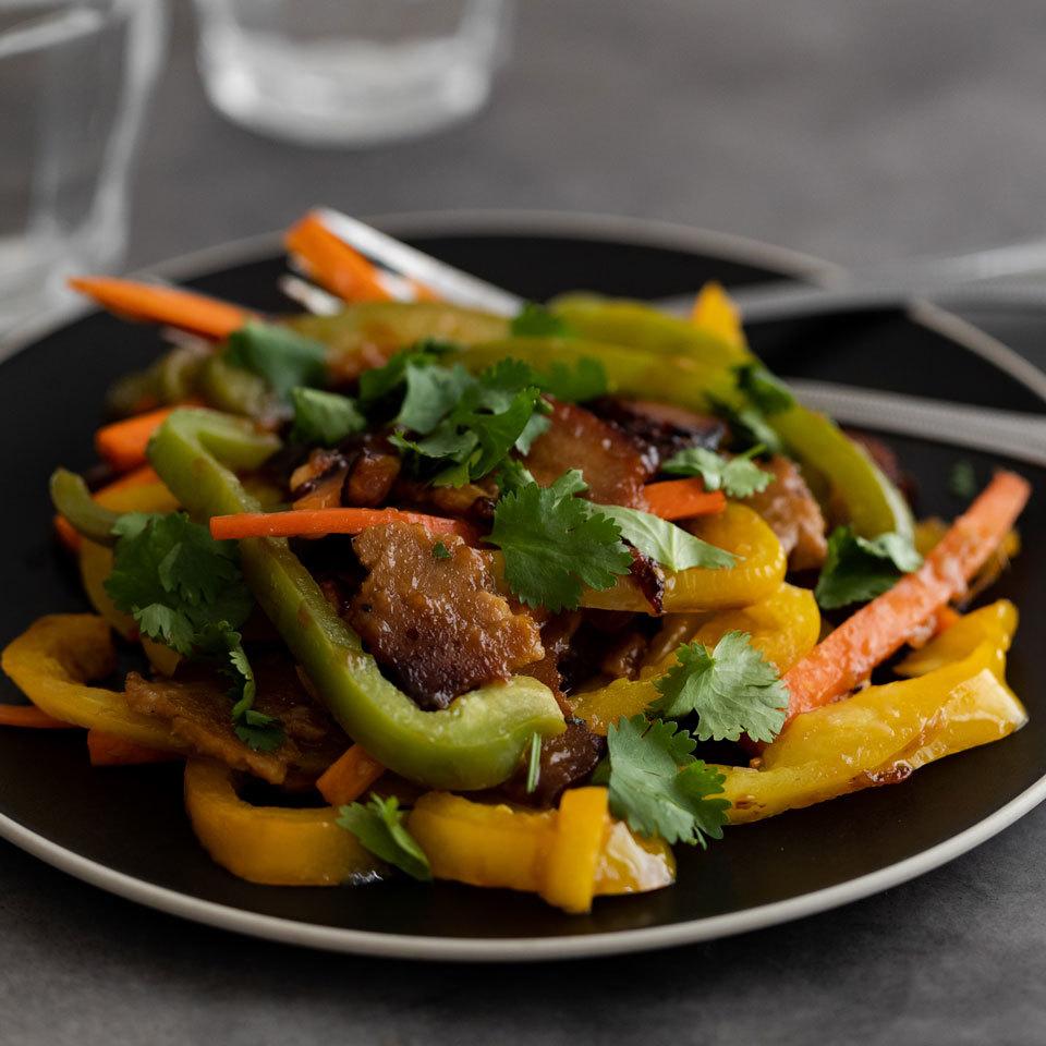 Garden-Fresh Stir-Fry with Seitan EatingWell Test Kitchen