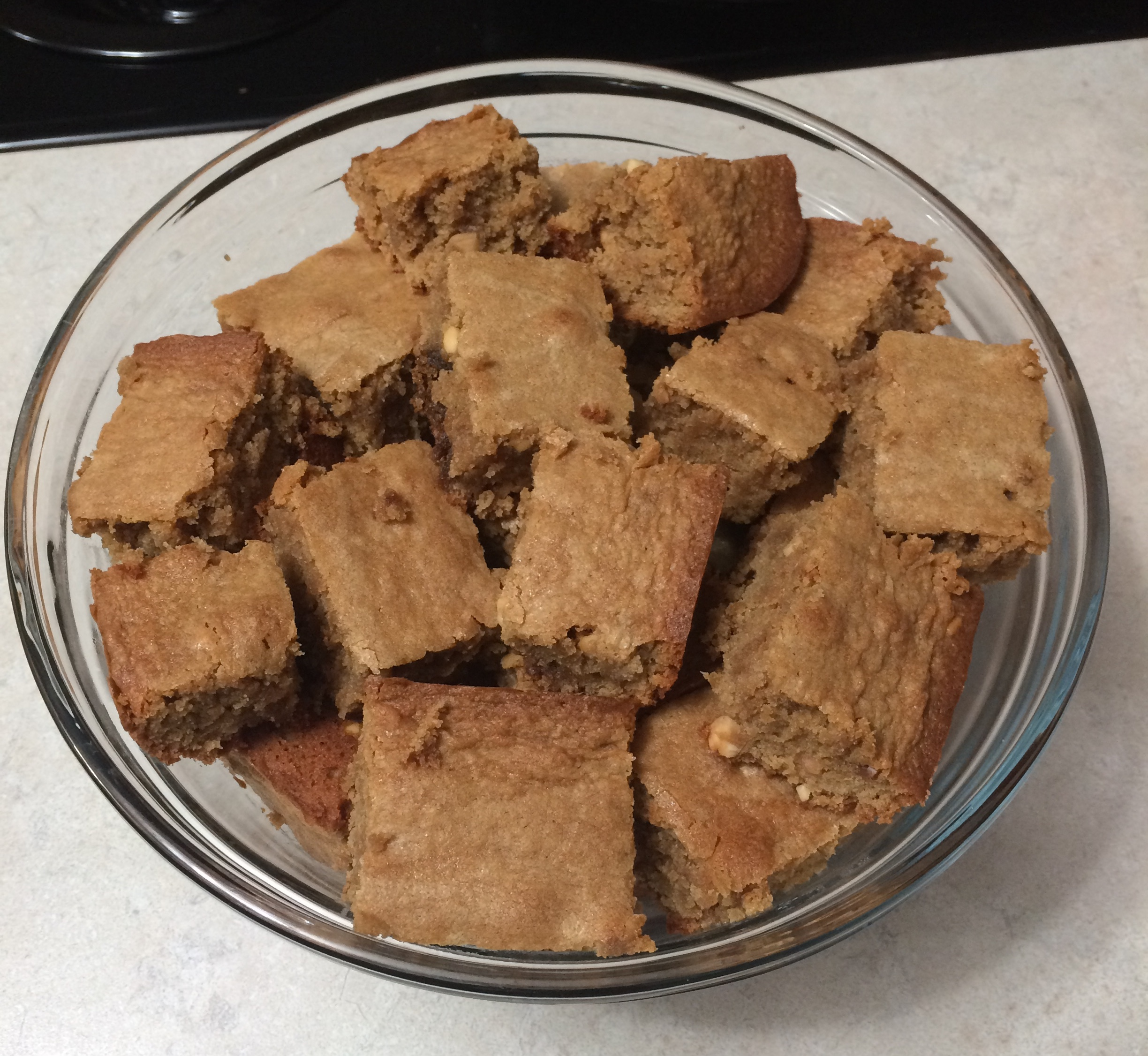 Peanut Butter Blondie Brownies