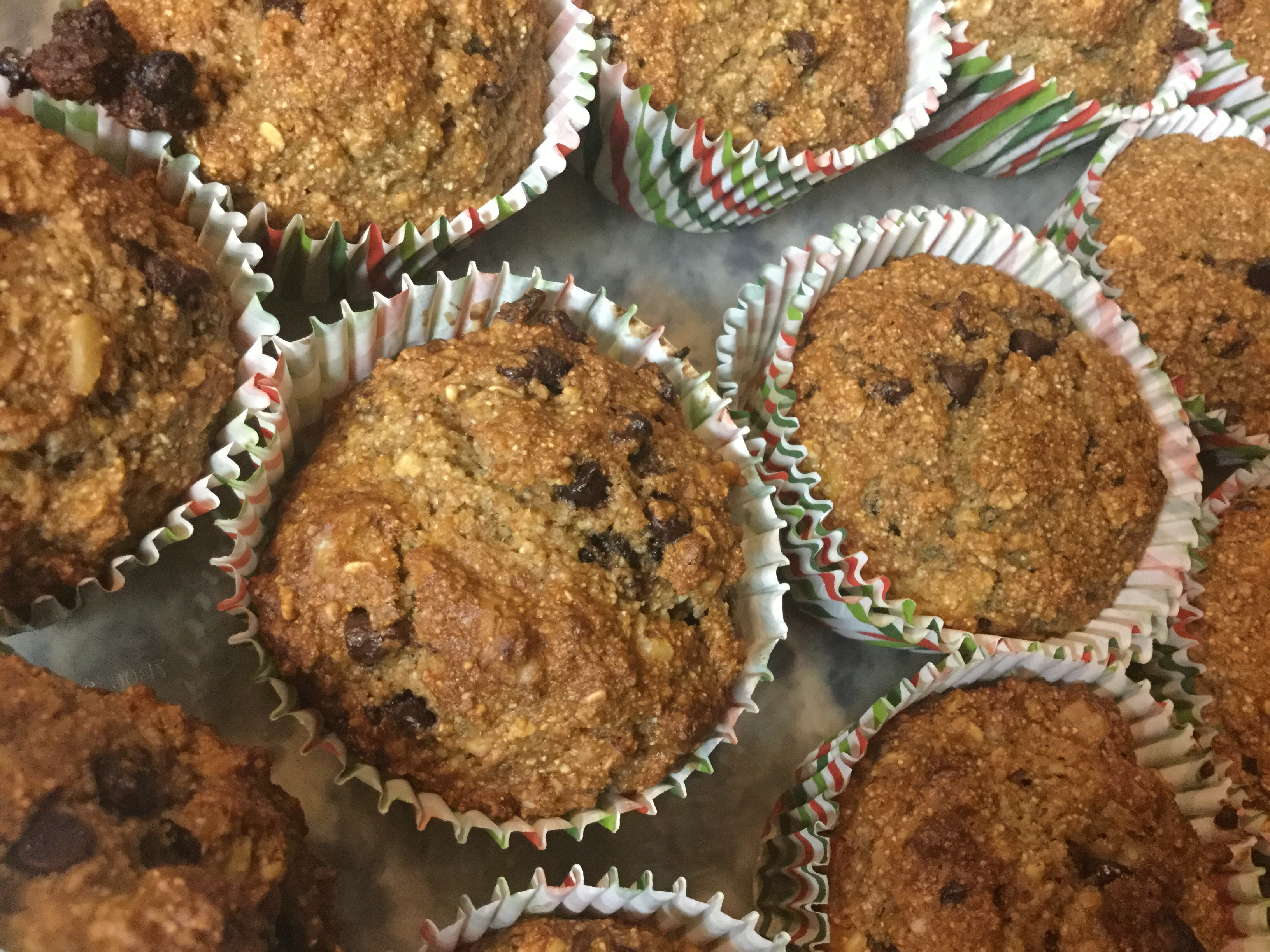 Healthy Banana Chocolate Chip Oat Muffins Barbara Manning Finnical