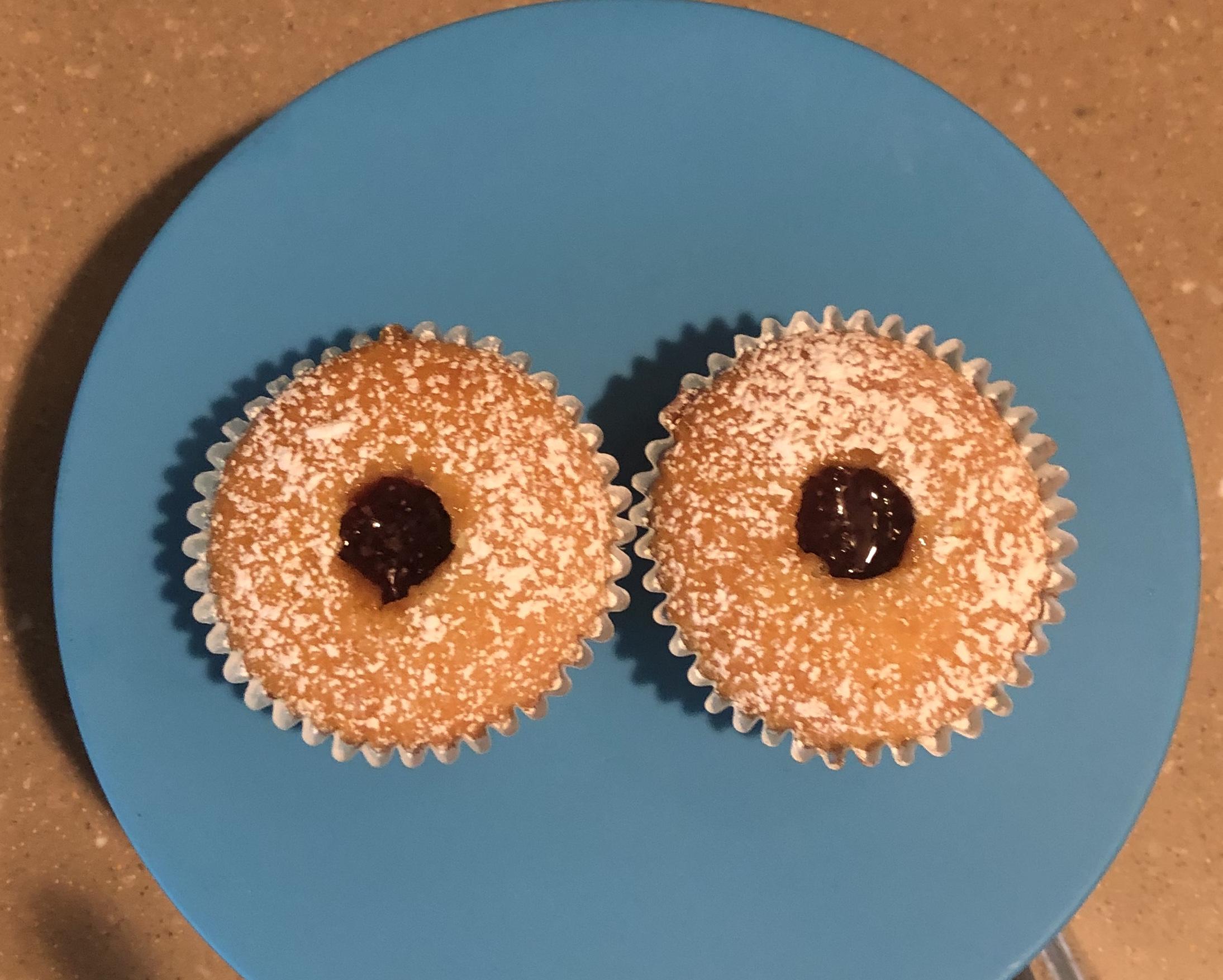 Jelly Doughnut Cupcakes dana