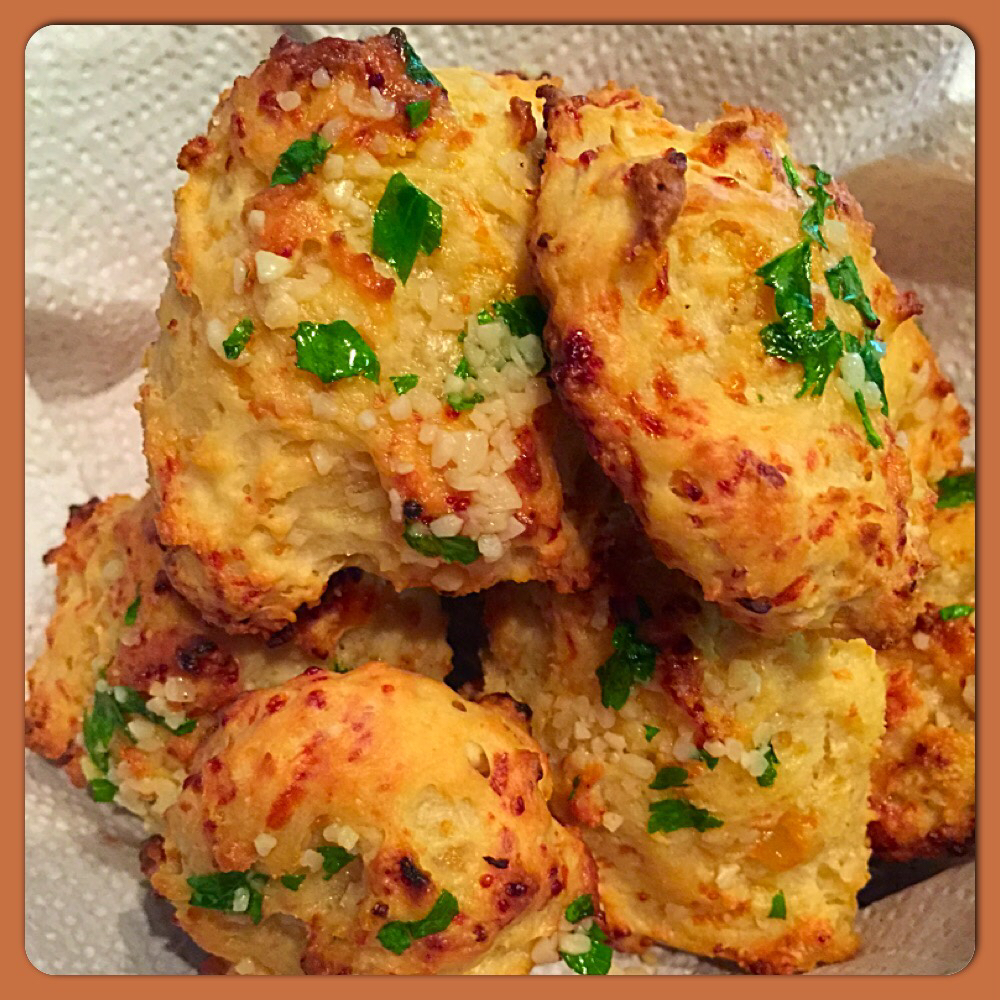 Cheddar Onion Drop Biscuits