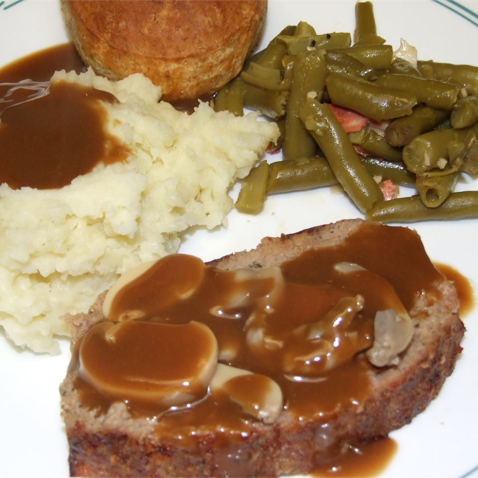 Best Ever Meatloaf with Brown Gravy