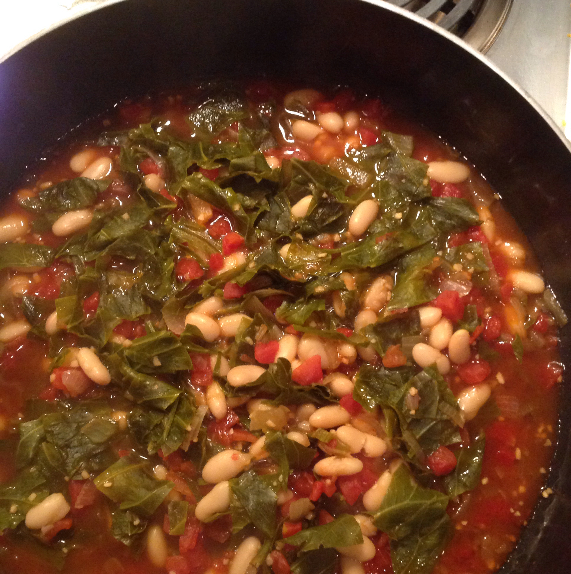 Collard Greens with White Beans patti