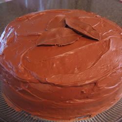 Deep Dark Chocolate Cake FoodFan