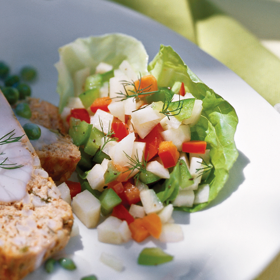 Kohlrabi-Carrot Salad with Dill Vinaigrette Diabetic Living Magazine