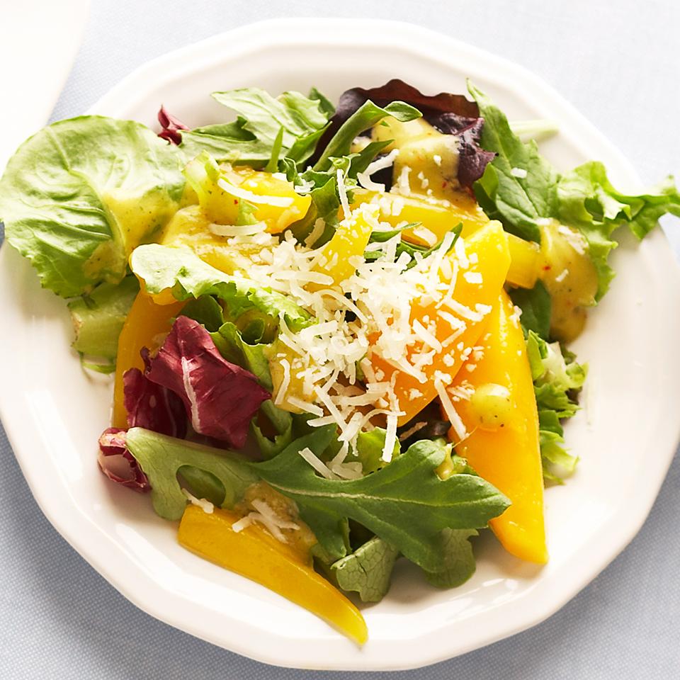 Salad Greens with Mango-Basil Vinaigrette Diabetic Living Magazine
