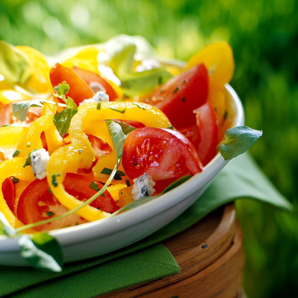 Team Colors Tomato-Pepper Salad Diabetic Living Magazine