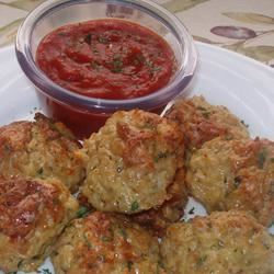 Cheesy Chicken Meatballs Holiday Baker