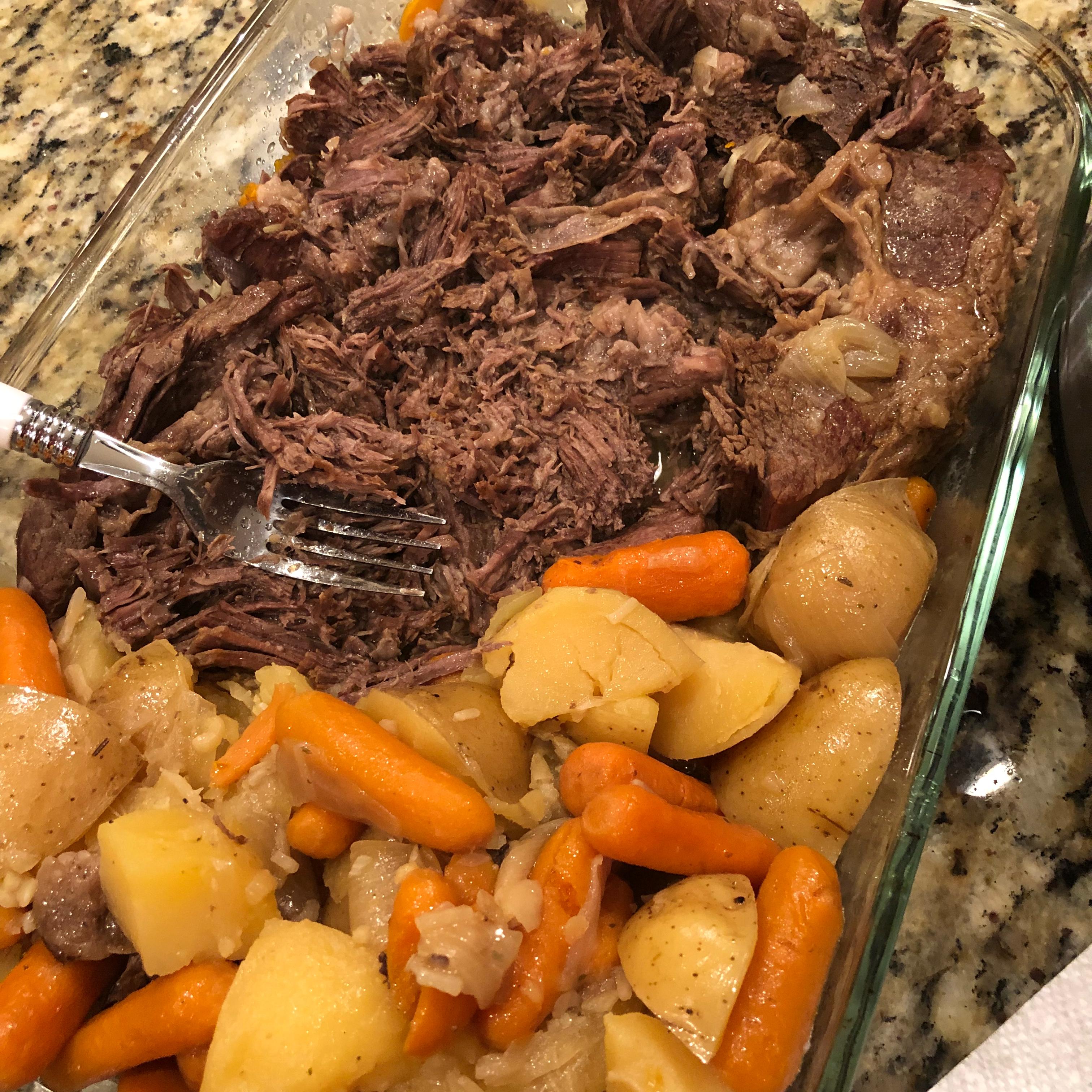 Instant Pot® Pot Roast with Potatoes and Carrots deadheadfsu