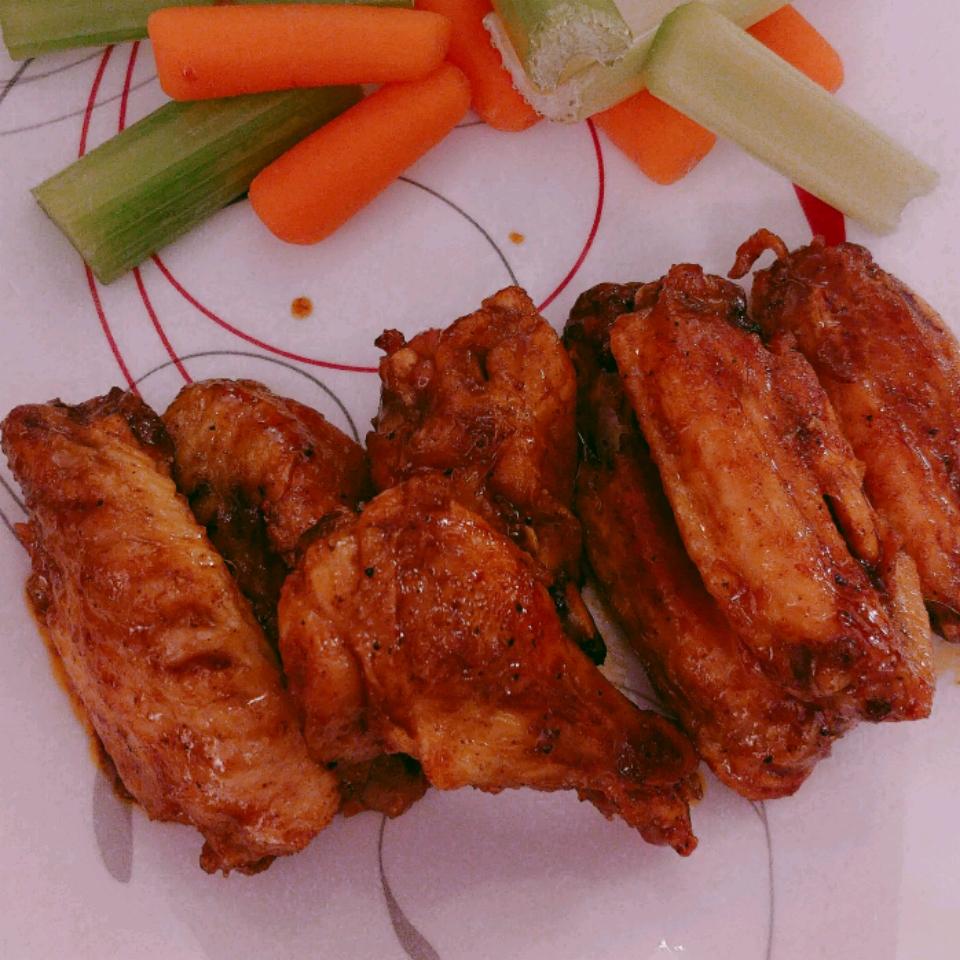 Crispy Baked Moroccan Chicken Wings with Yogurt Dip Russ