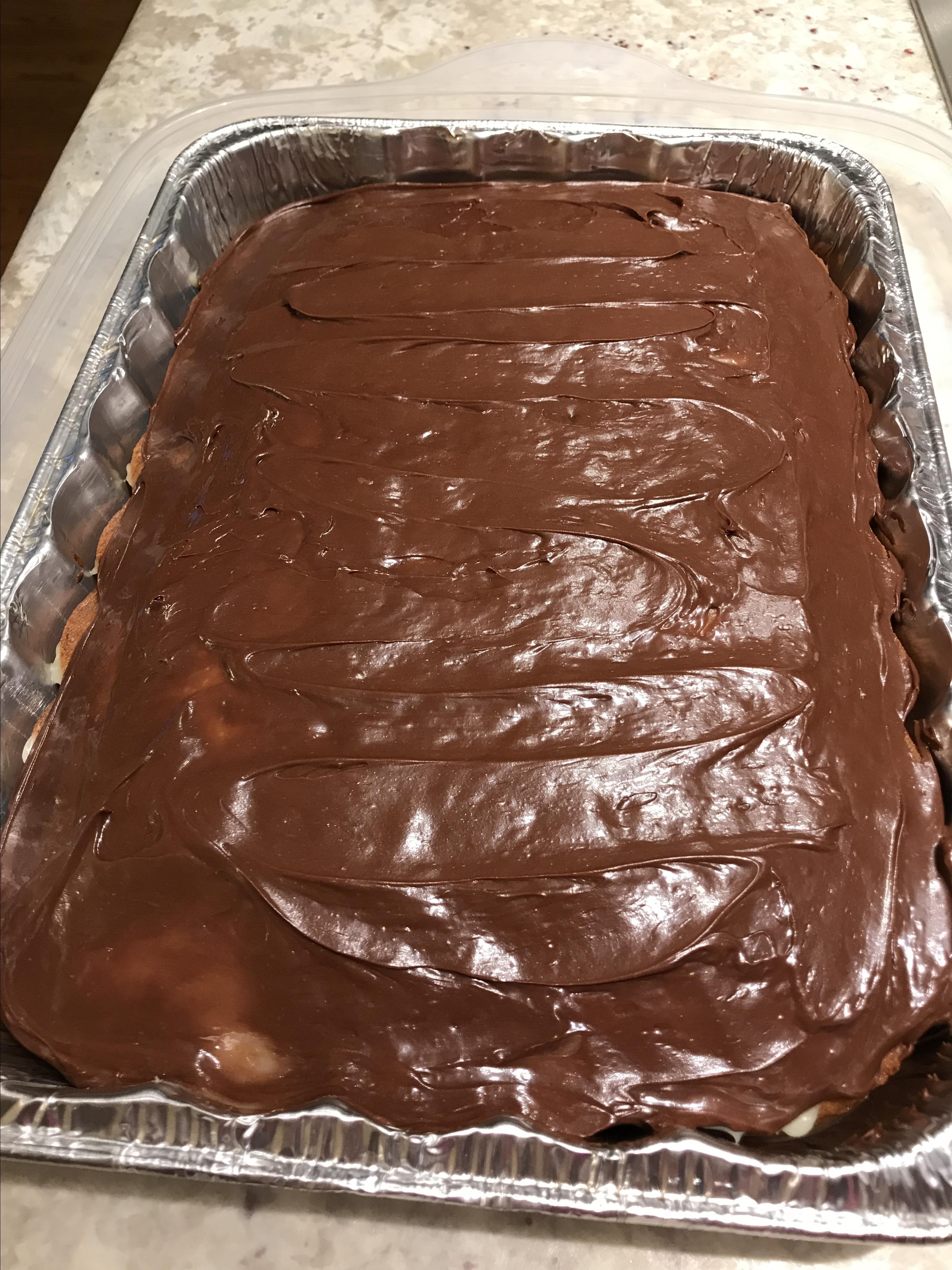 Easy Boston Cream Poke Cake Meghan Morden
