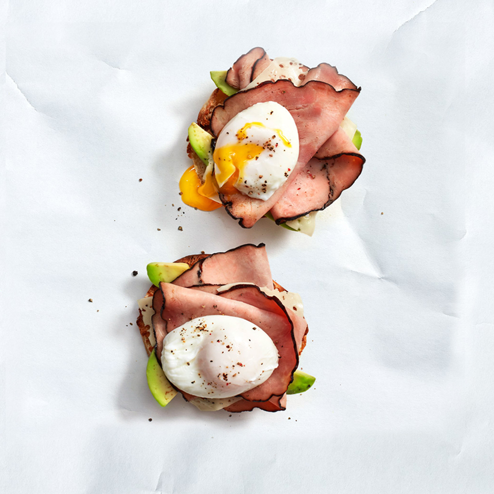 Croque Madame with Poached Eggs