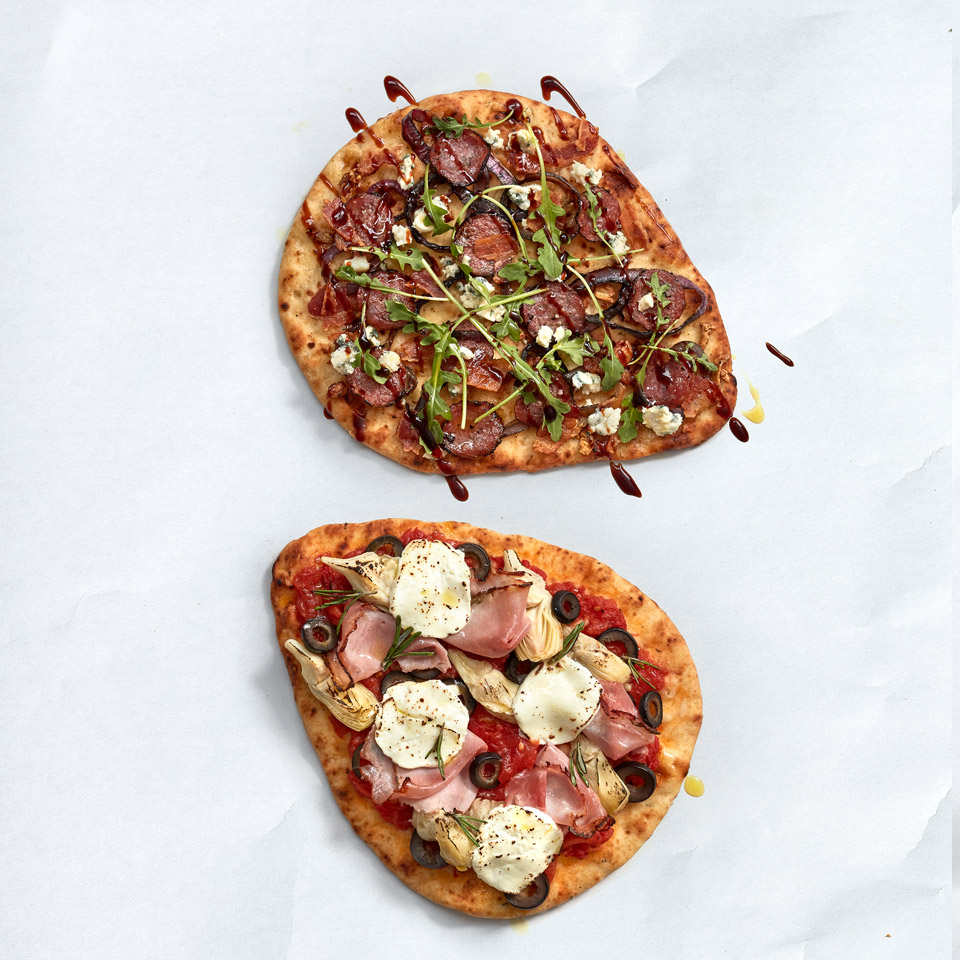 Flatbread Salami Pizza