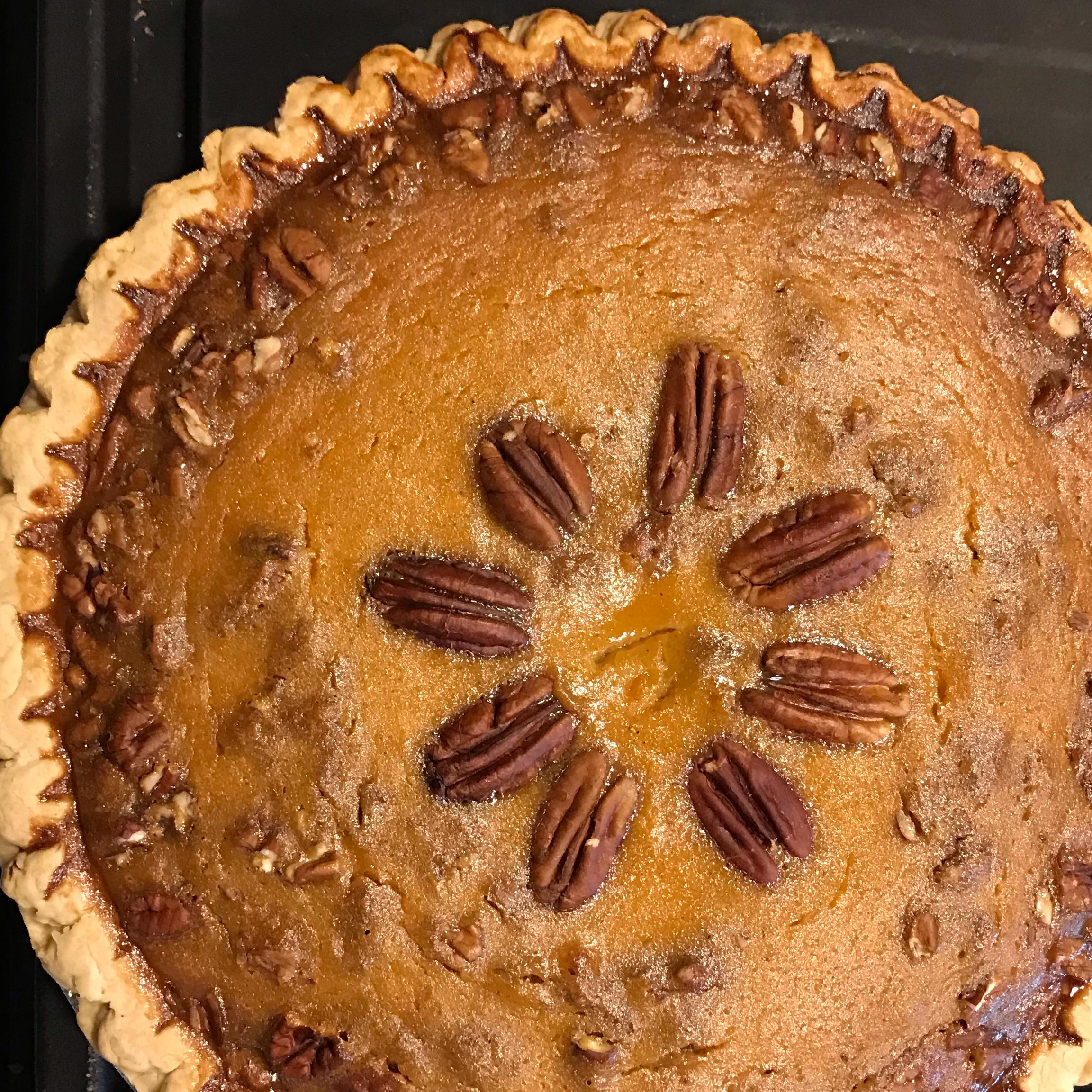 Sweet Potato Pie with Pecans