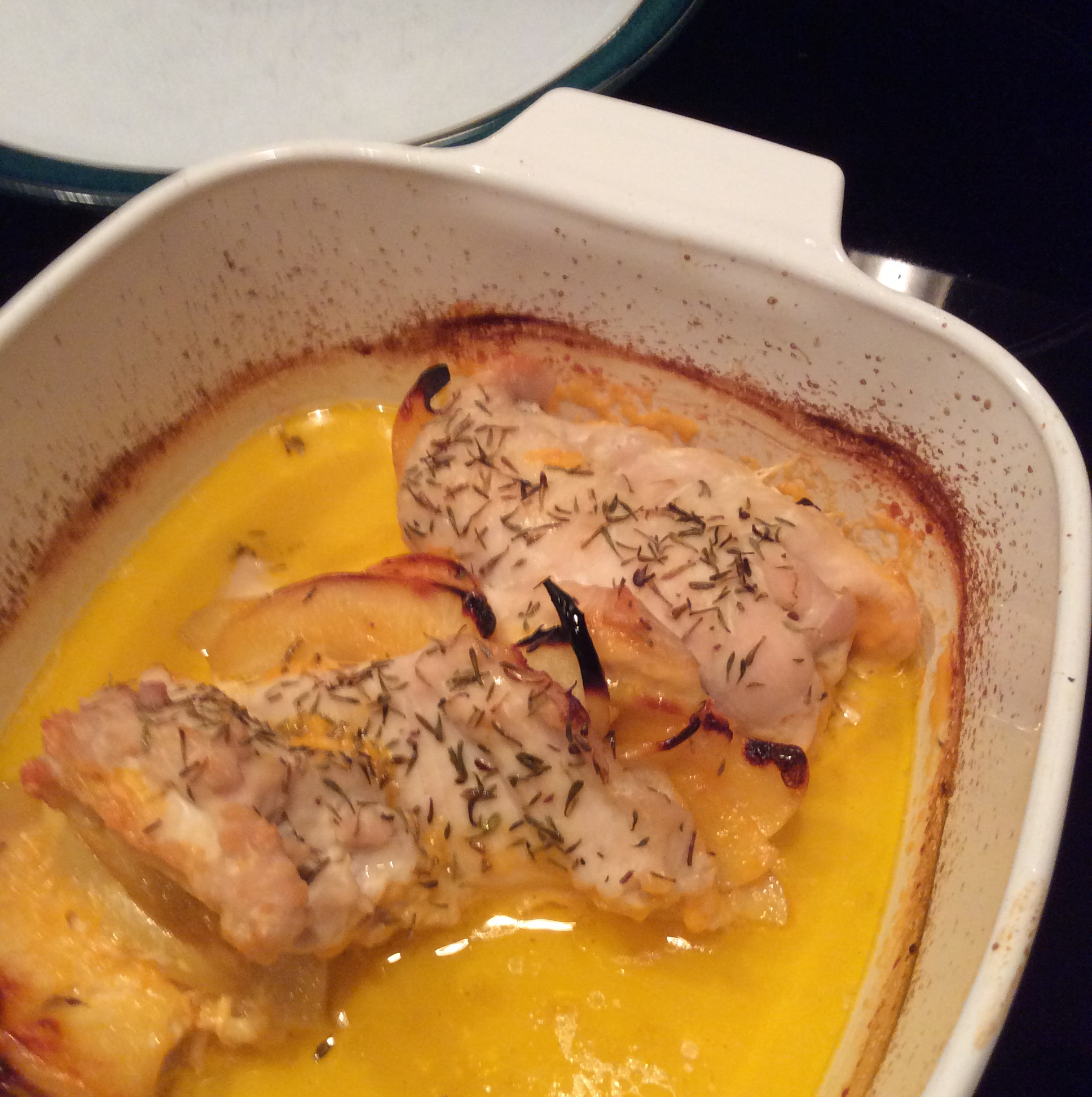 Apple and Cheddar Stuffed Chicken CandiLynn