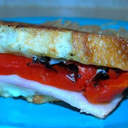 Grilled Roasted Red Pepper and Ham Sandwich Denise Peacock