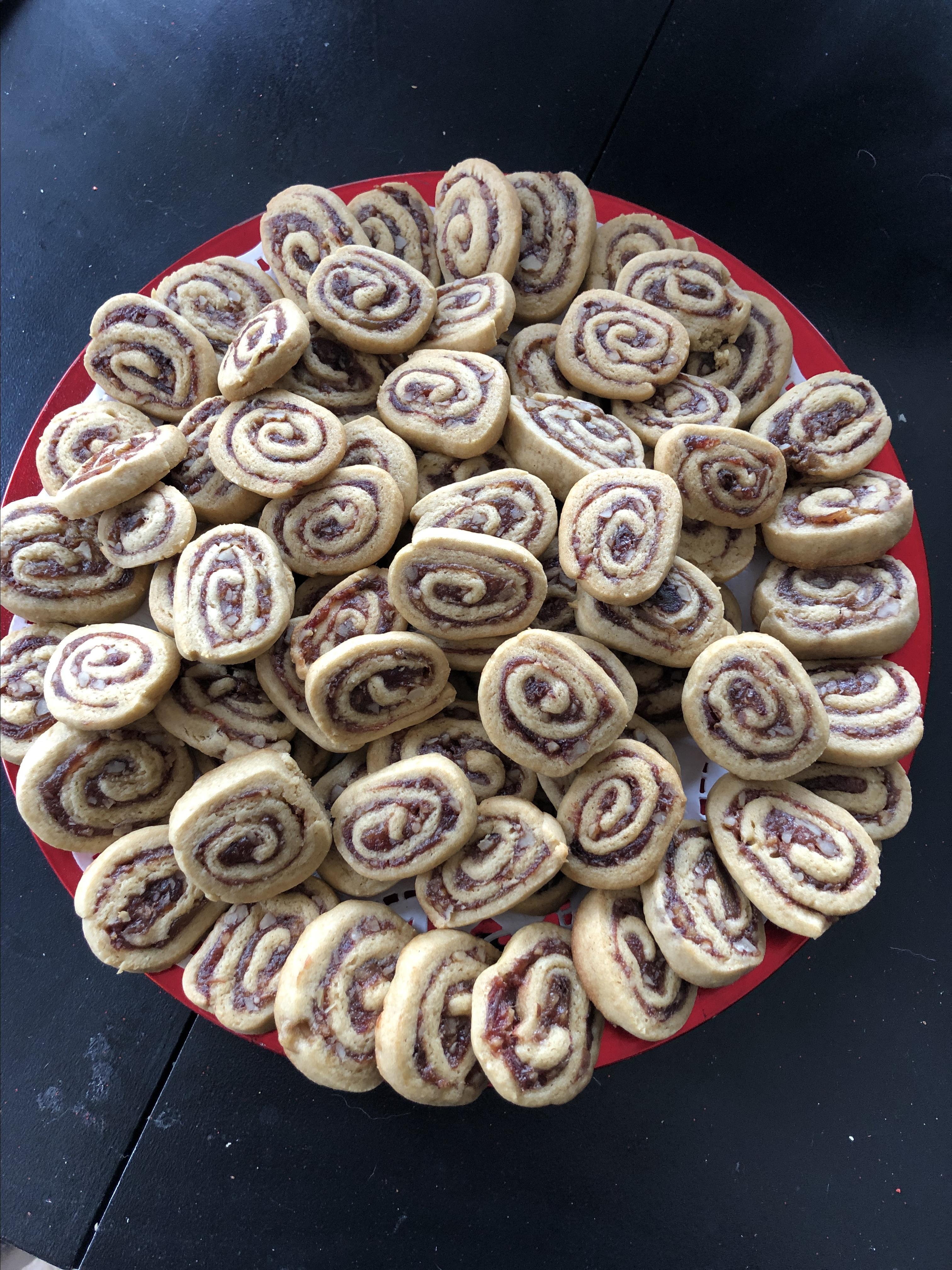 Date Nut Pinwheel Cookies II Donnarrose