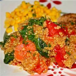 Carrot, Tomato, and Spinach Quinoa Pilaf Marisa R.