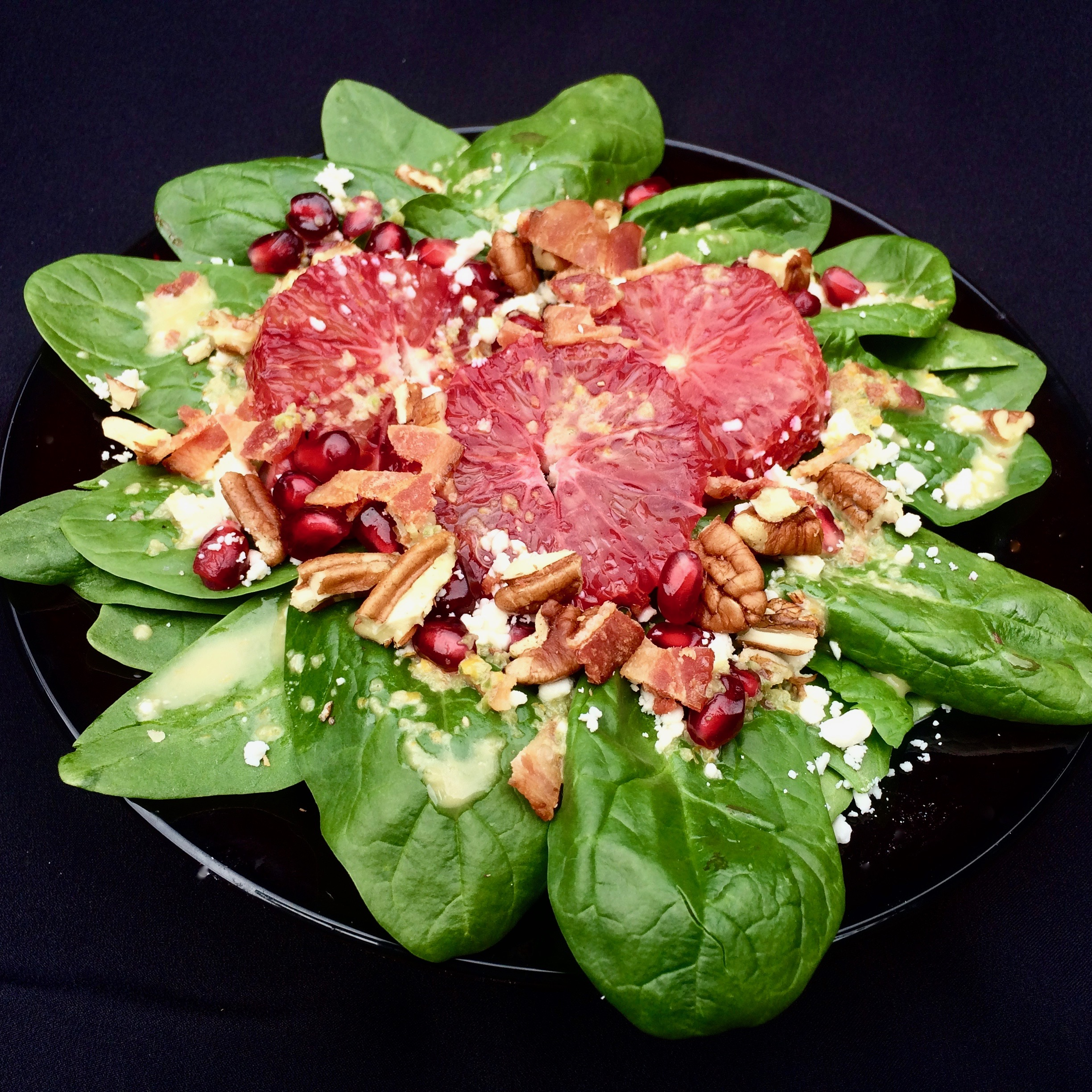 Blood Orange and Spinach Salad with Jalapeno Vinaigrette
