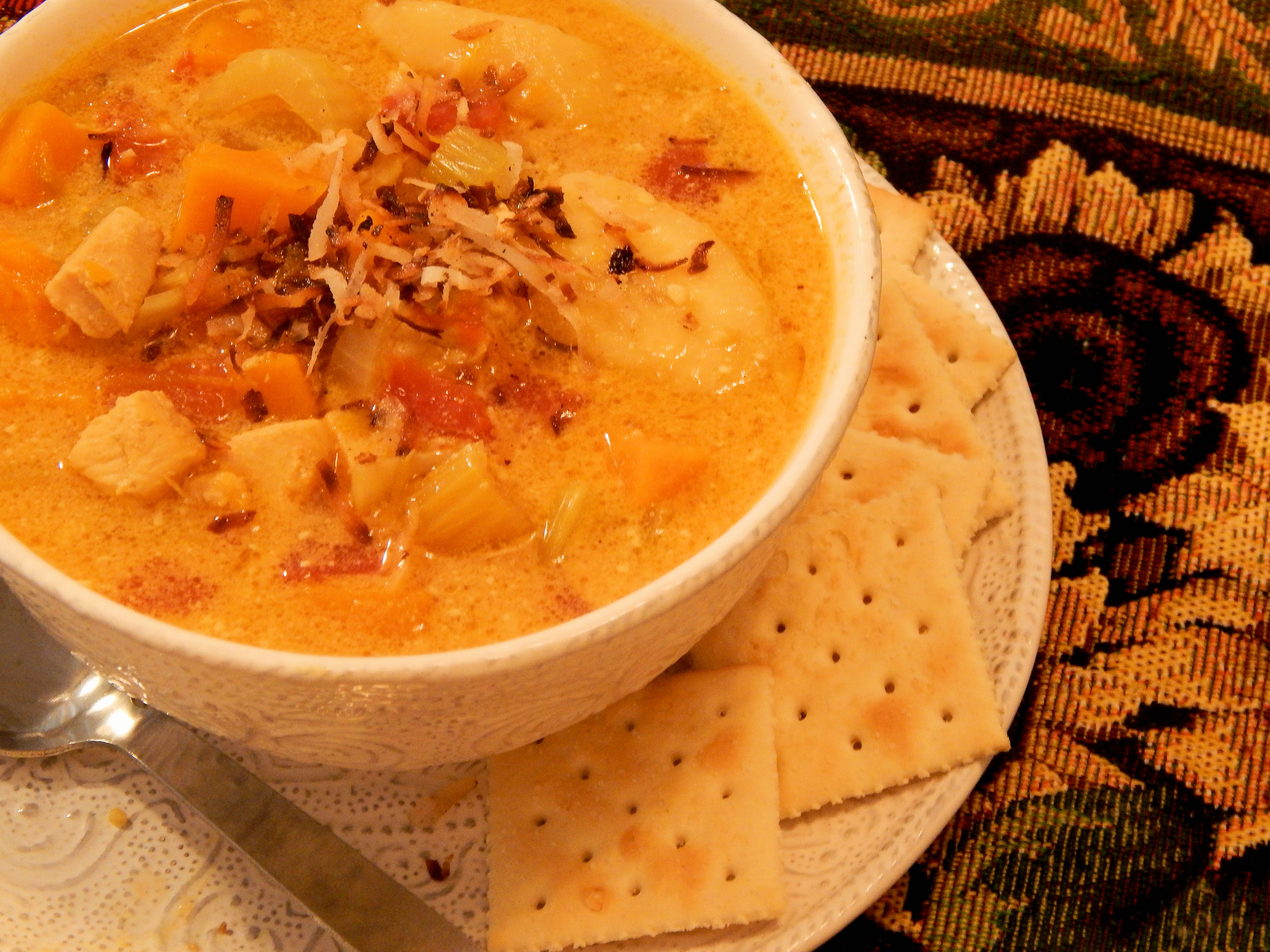 Butternut Chicken and Banana Soup