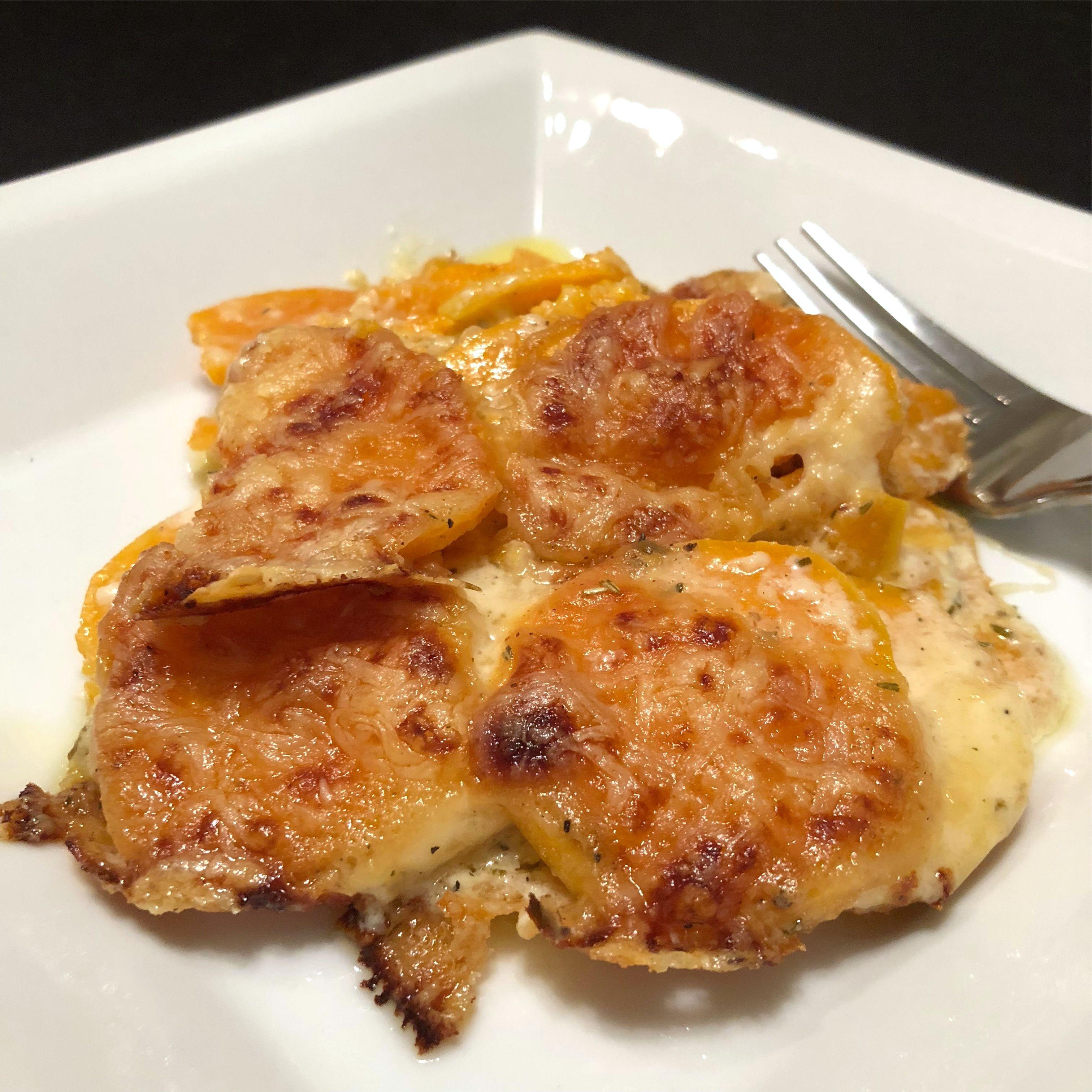 Sweet Potato Gratin Happyschmoopies