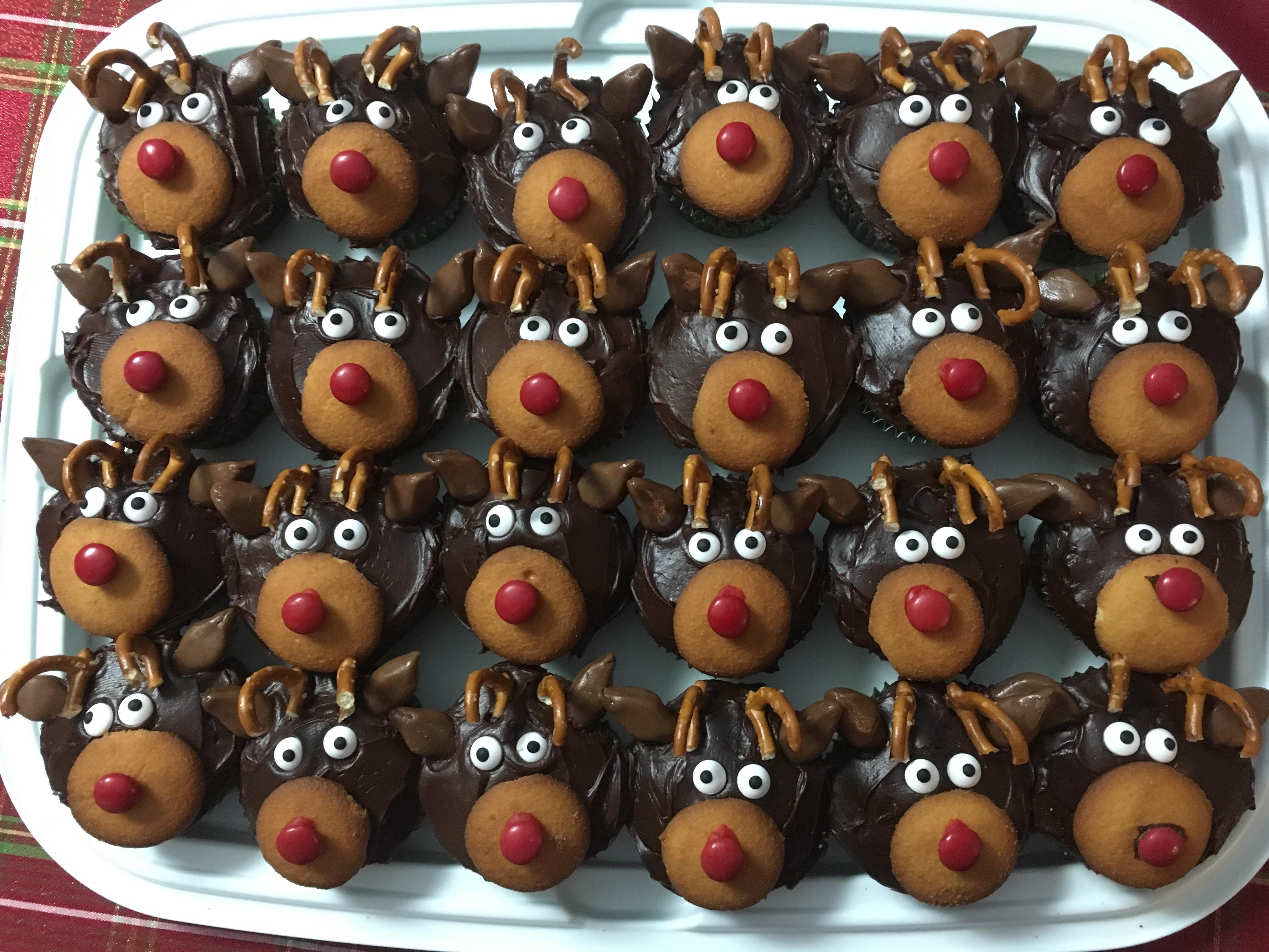 Christmas Reindeer Cupcakes Carly