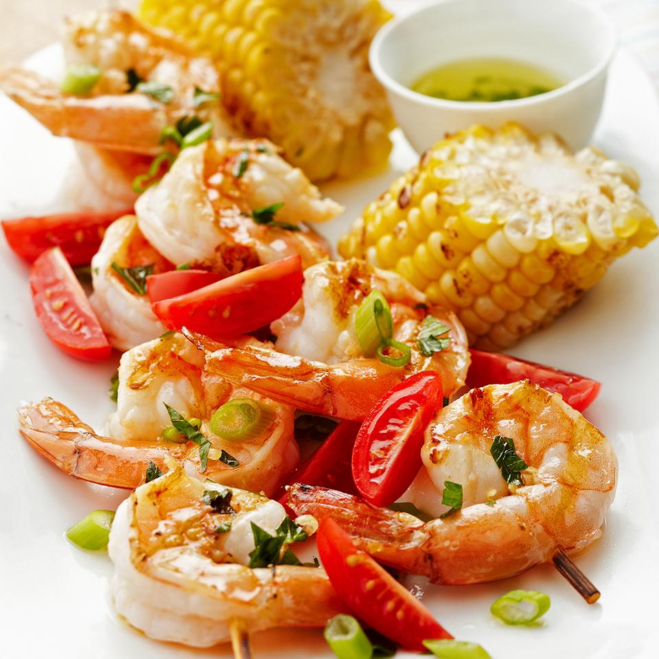 Shrimp Kebabs with Lemon Marinade Diabetic Living Magazine