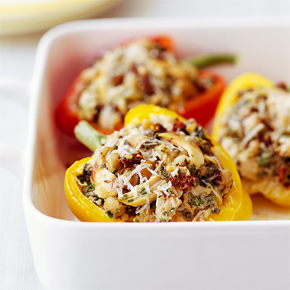Tofu-Pesto Stuffed Peppers Diabetic Living Magazine