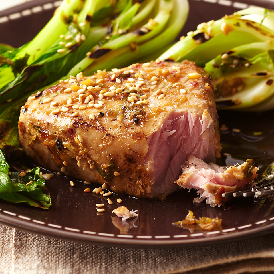 Plank-Grilled Tuna Steaks Diabetic Living Magazine