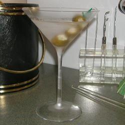Dirty Blues Martini
