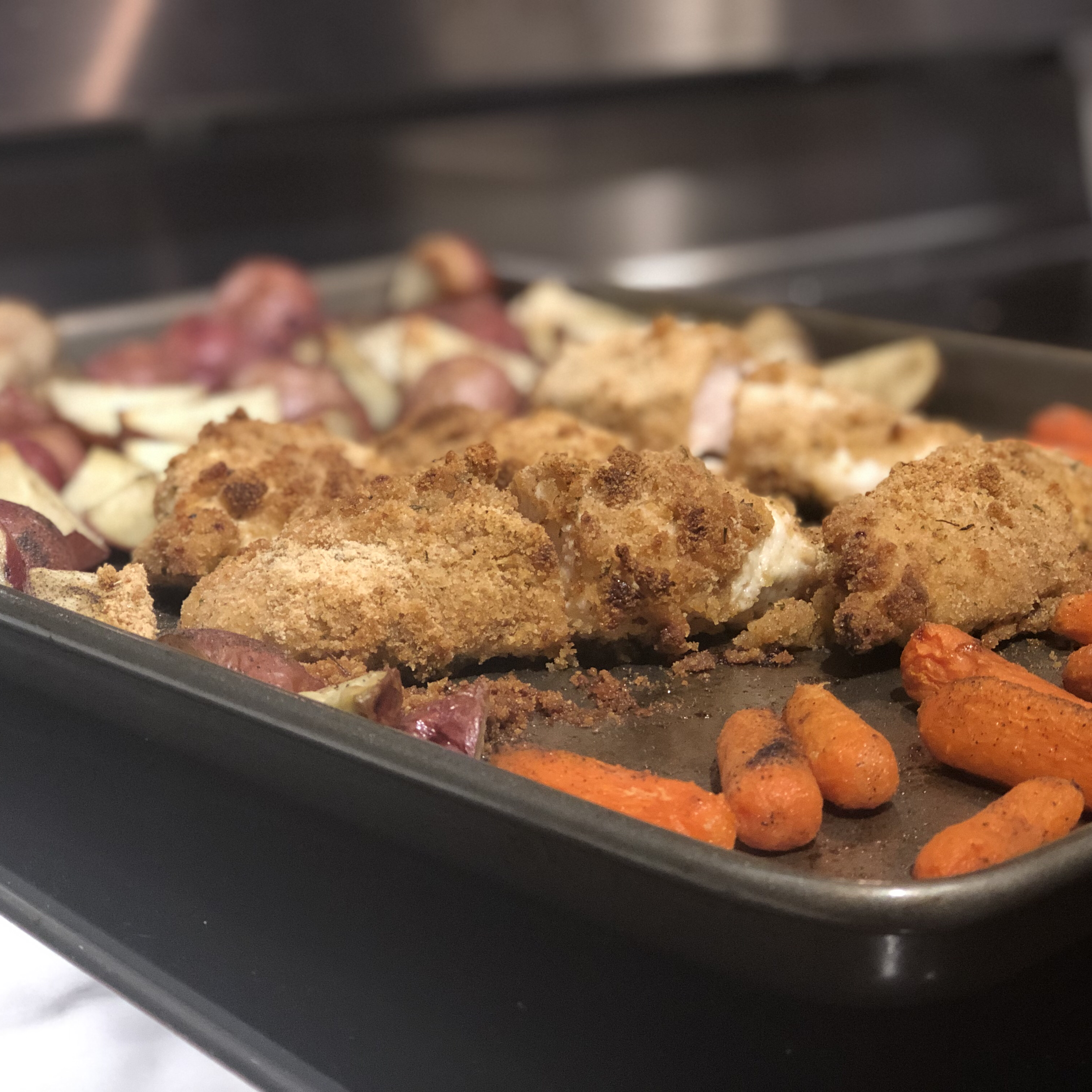 Sheet Pan Dinner with Chicken and Veggies Whitney Jeffords