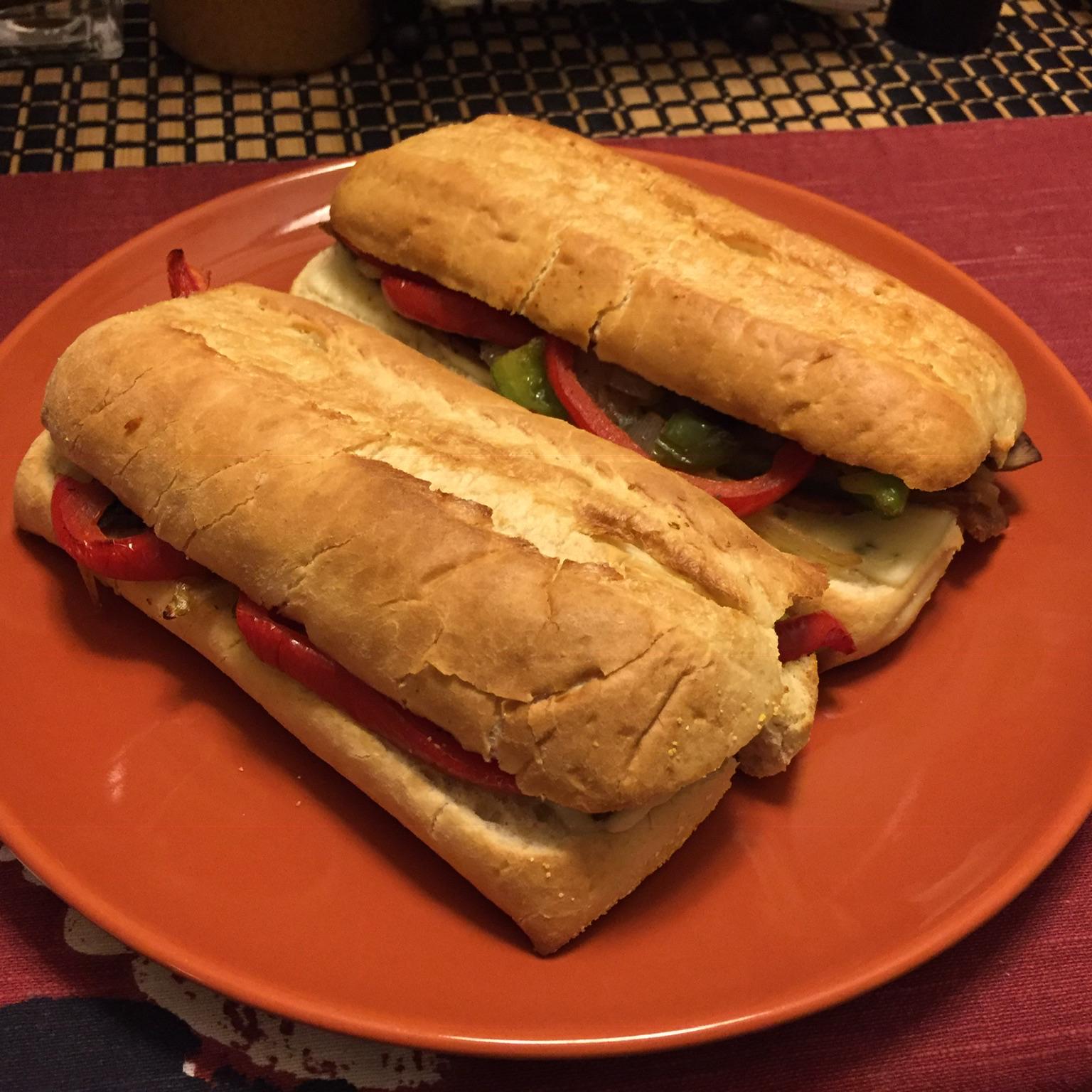 Seitan Philly Cheese Steak Sandwiches Matt Leese