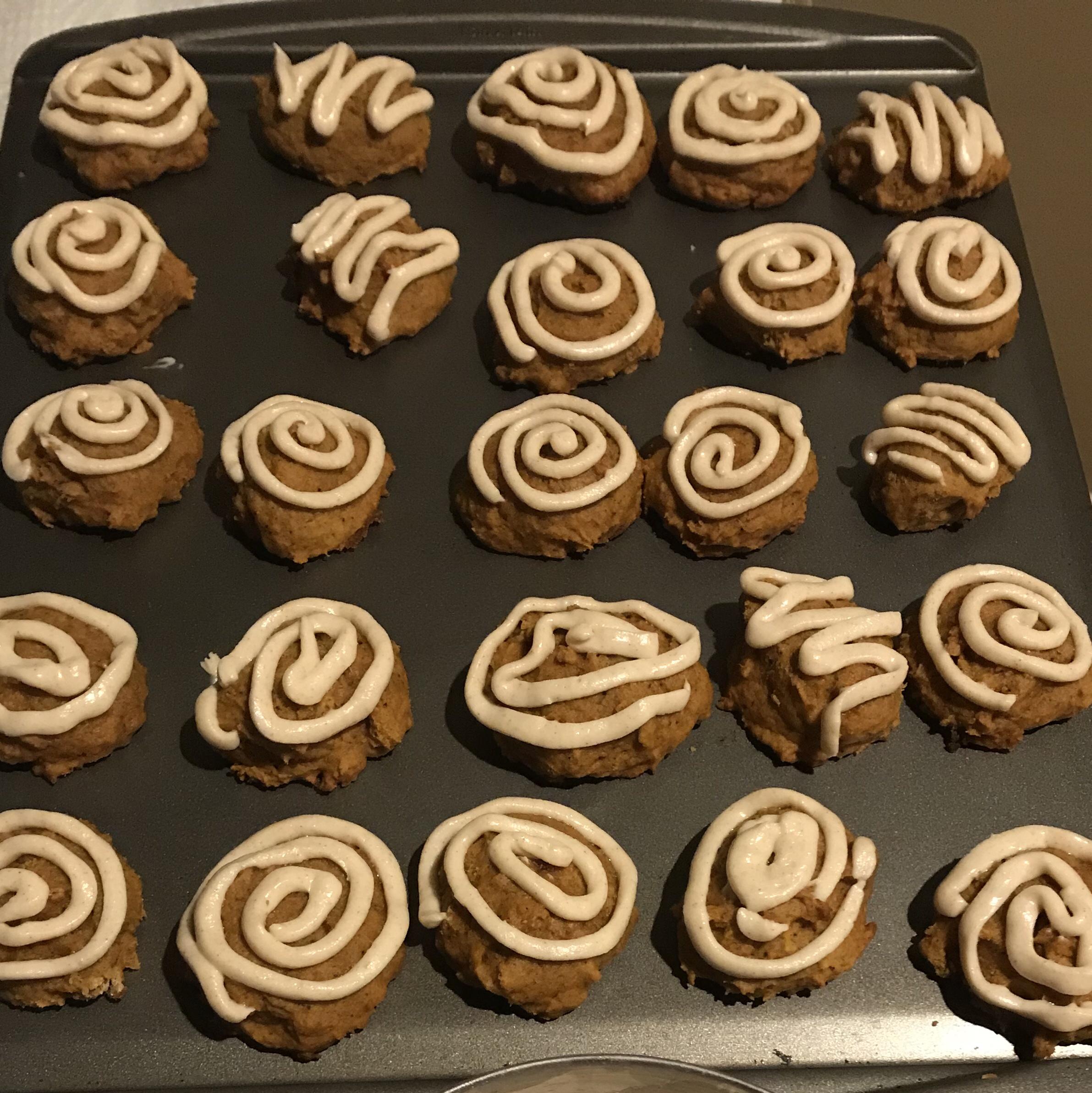 Iced Pumpkin Cookies Ann Marie