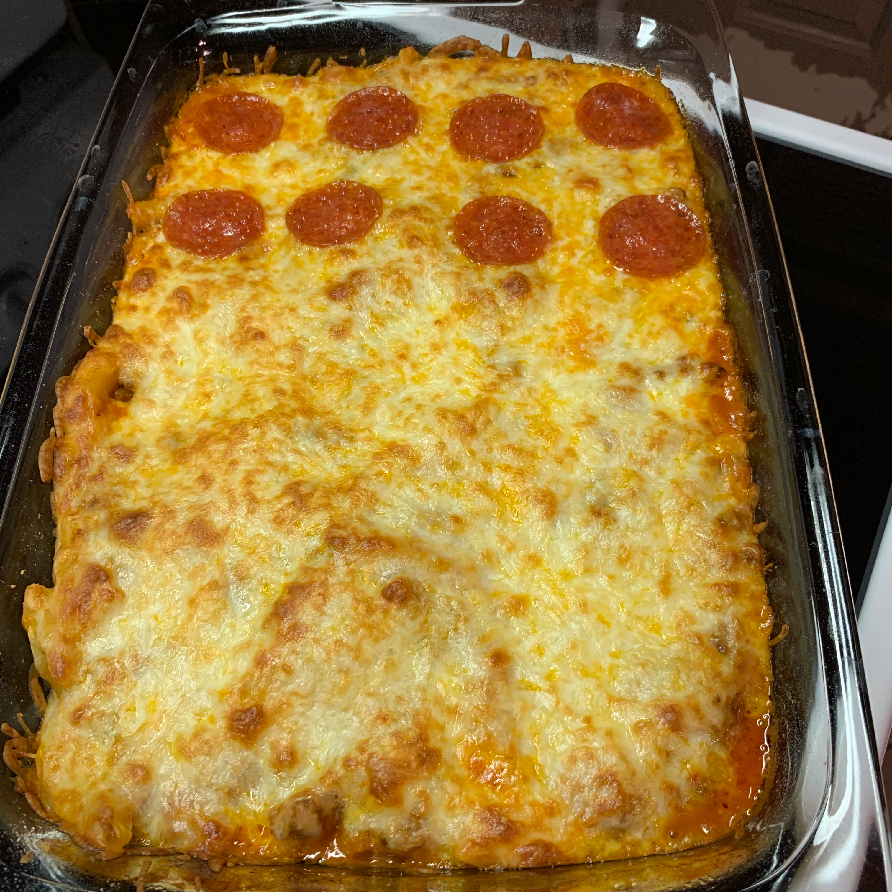 Pizza Pasta Bake with Sausage Matt Foote