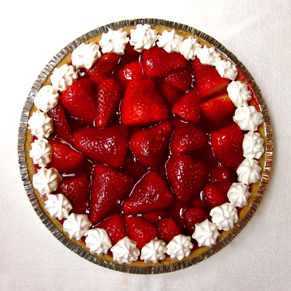 Honestly, it just doesn't get more simple than this. Fresh strawberries heaped in a baked pie shell, then glazed with thickened strawberry gelatin and chilled before serving with whipped cream. Some reviewers used a graham cracker crust, and some spread a layer of sweetened cream cheese on the crust before arranging the berries. That's the great thing about a simple dessert like this — it's easy to customize.