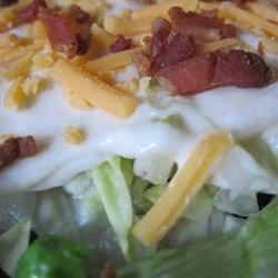Miss Betty's 24 Hour Lettuce Salad bigcountry