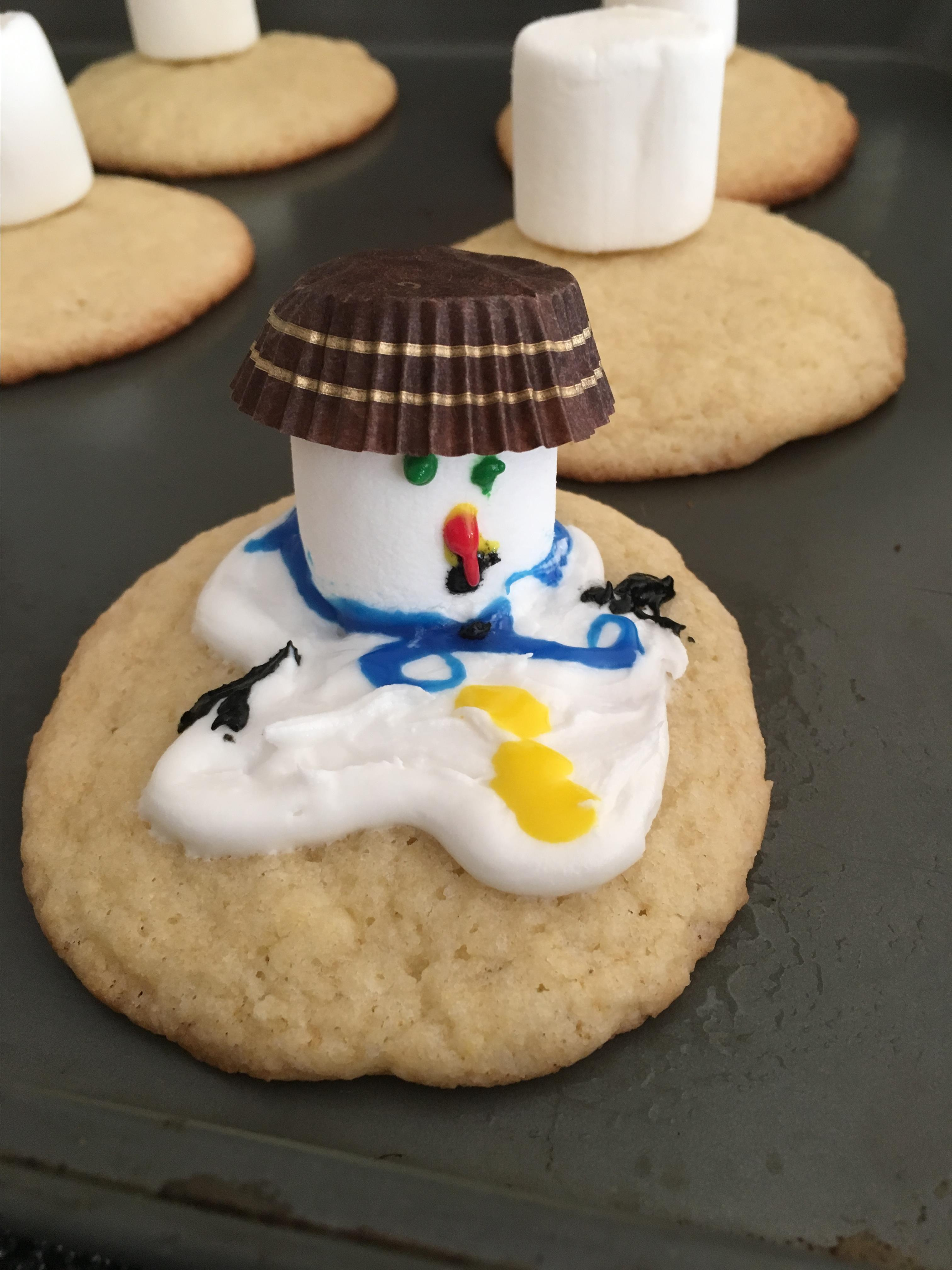 Melted Snowman Cookies betty