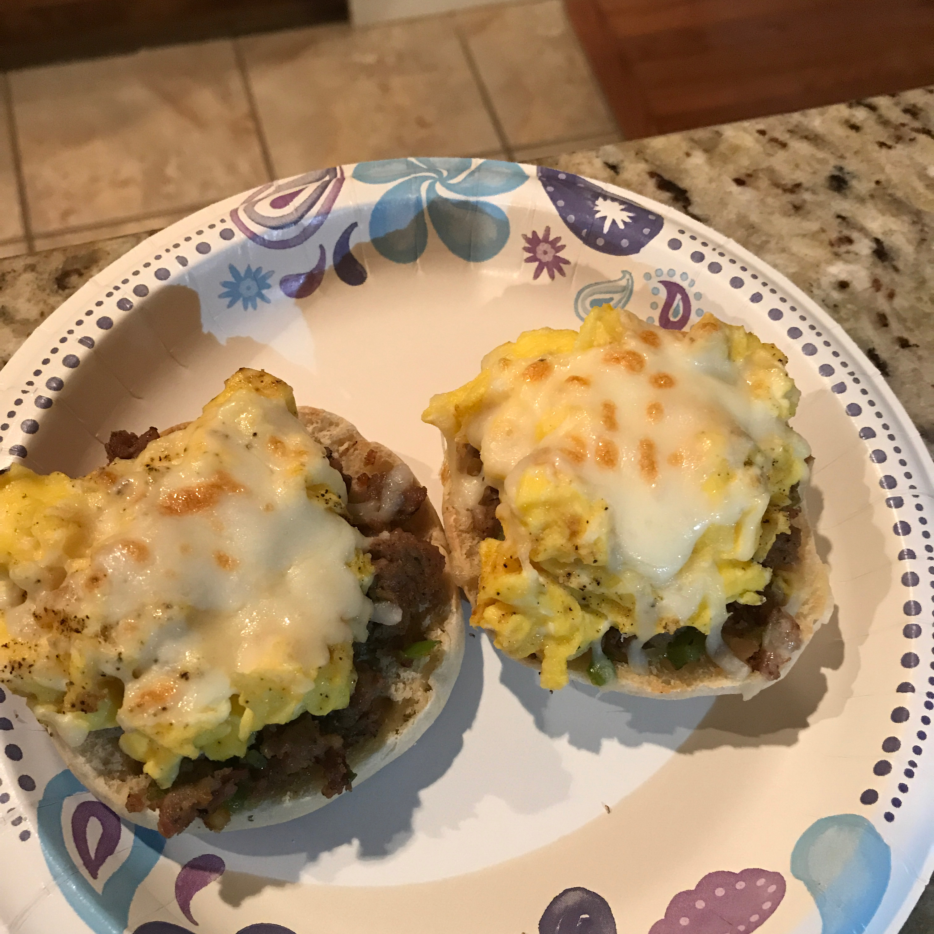 English Muffin Breakfast Pizzas mawmaws box