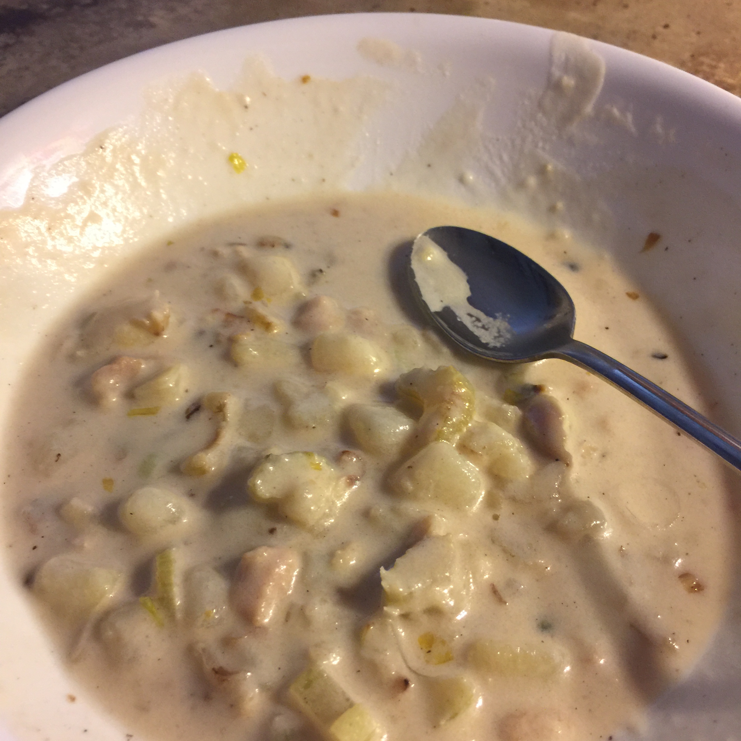 New England Clam Chowder for Two