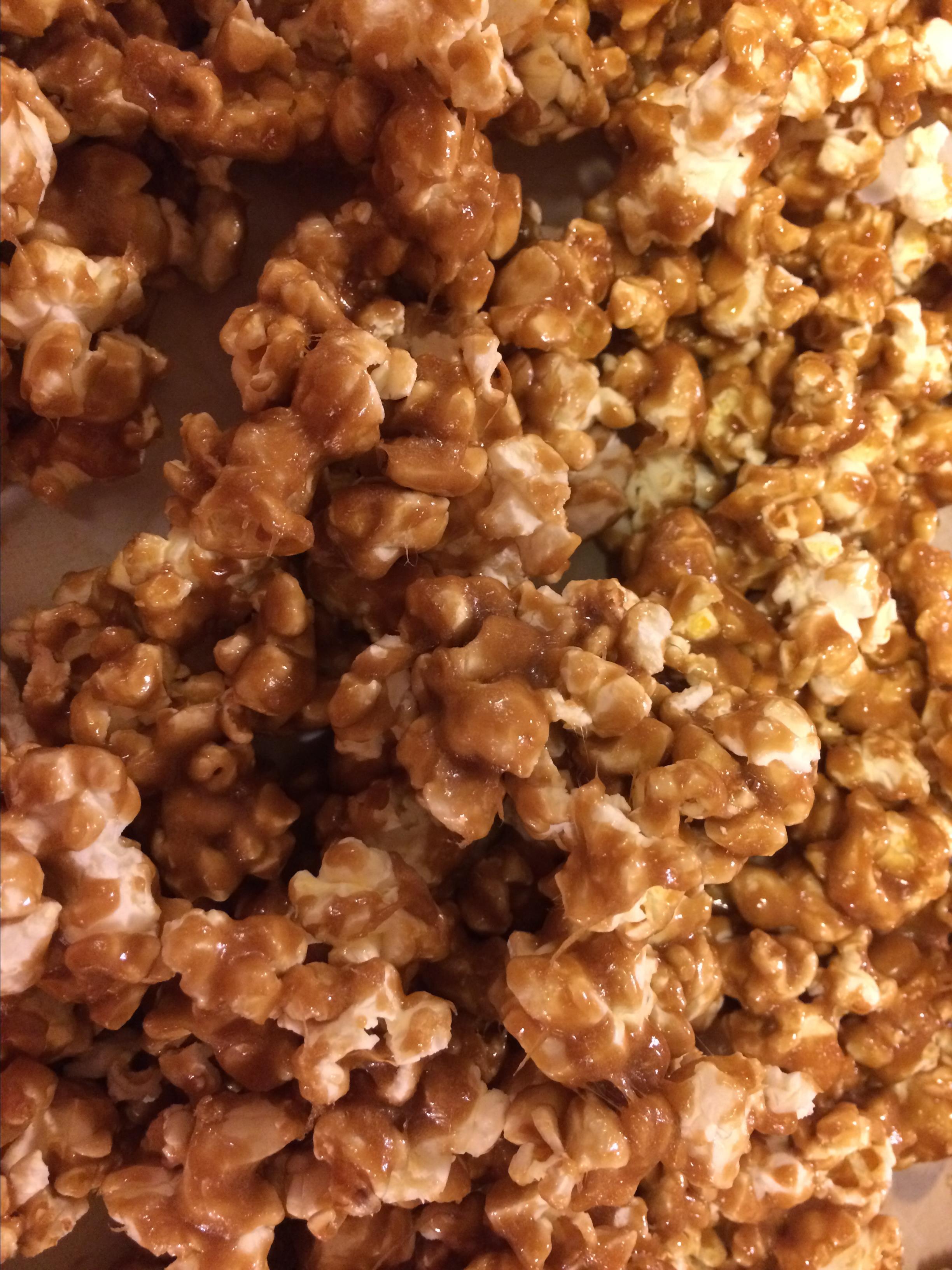 Microwave Caramel Popcorn