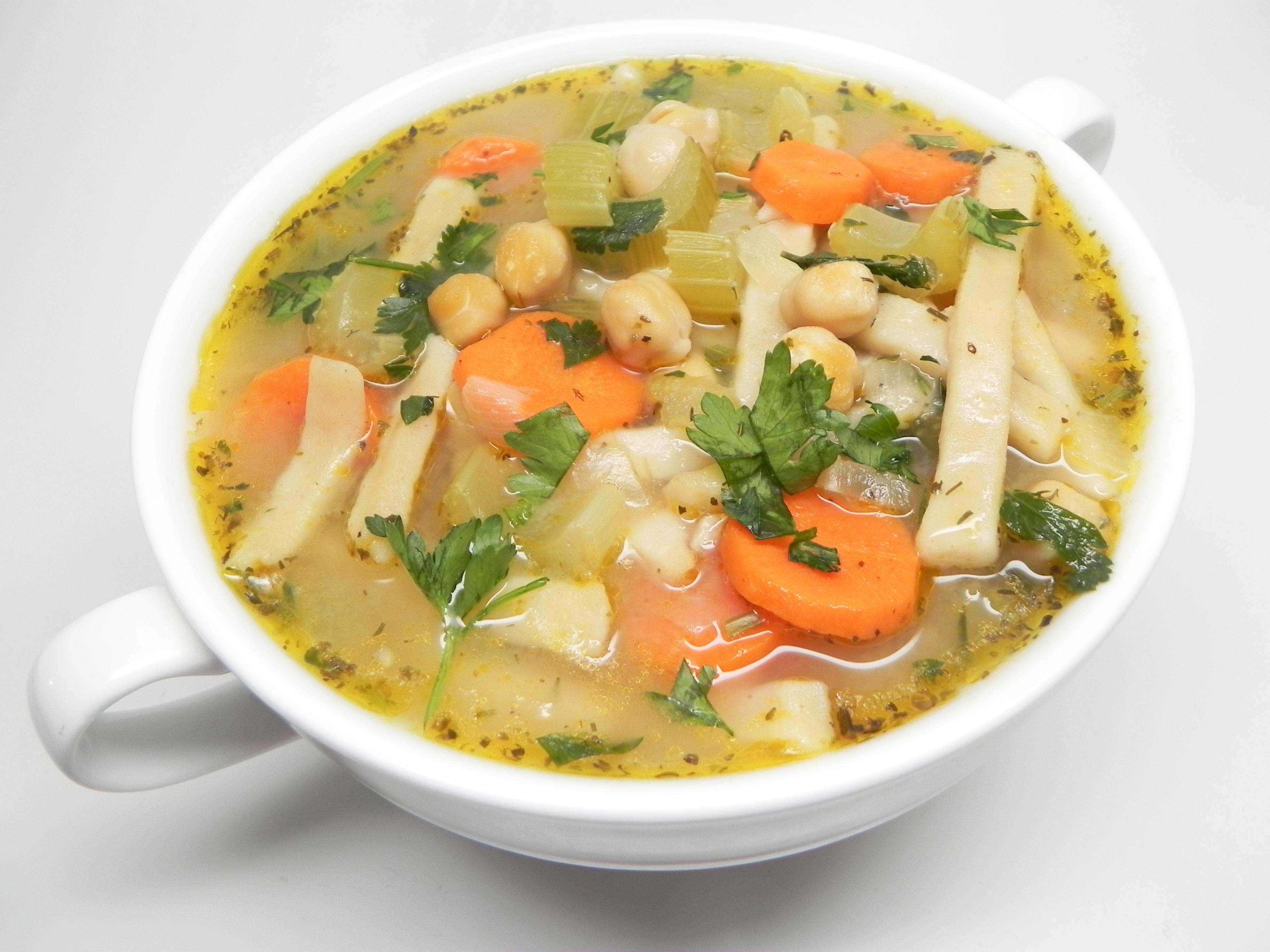 Vegan Chickpea Noodle Soup Soup Loving Nicole
