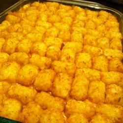Cheeseburger Casserole with Tater Tots® Stacey Prevette
