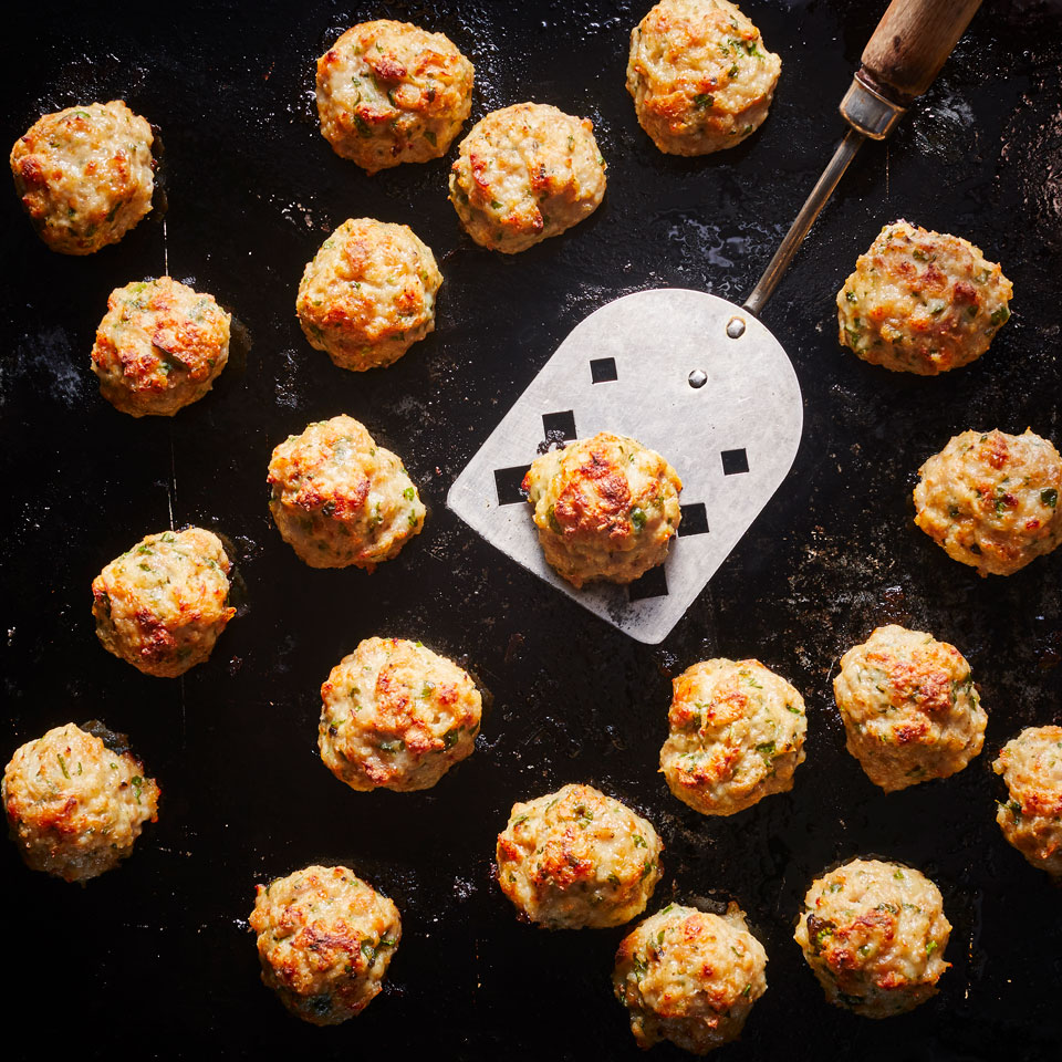 These meatballs are flavor-packed—thanks to a little sausage added to the ground chicken mix—and all-purpose: serve them on a toothpick with dipping sauce for an easy appetizer.