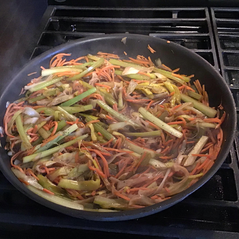 Balsamic Caramelized Leeks, Carrots, and Celery